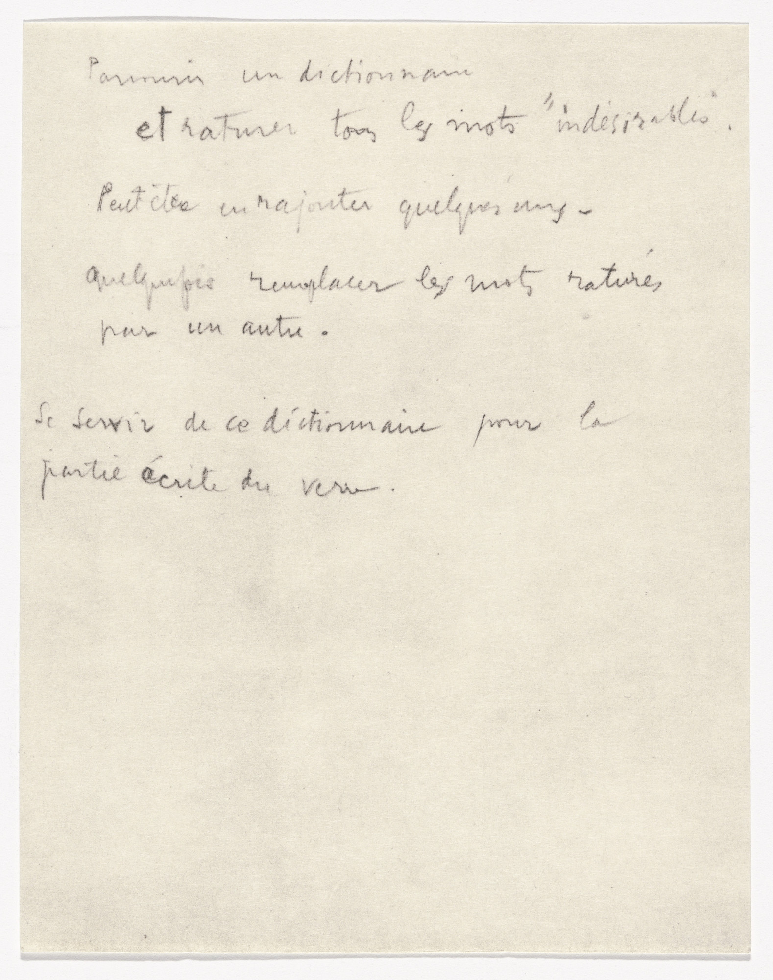 Marcel Duchamp. Dictionaries and Atlases from À l'Infinitif (La Boîte Blanche) (In the Infinitive [The White Box]). 1912–20, published 1966