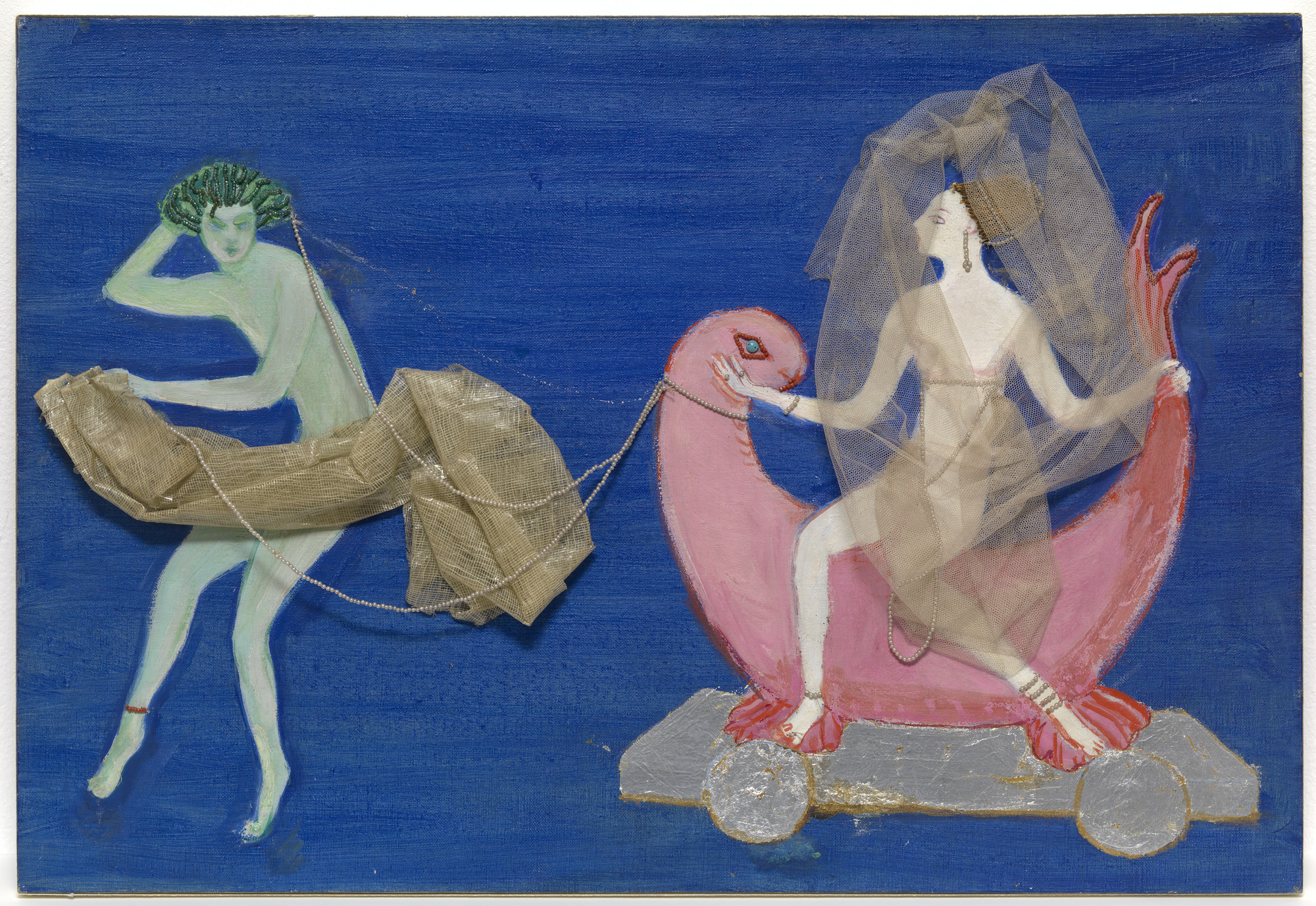 Florine Stettheimer. Costume design (Wave Drawing Aphrodite on a Dolphin) for artist's ballet Orphée of the Quat-z-arts. c. 1912