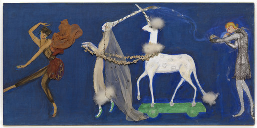 Florine Stettheimer. Costume design (Procession: Zizim of Persia, Agnes of Bourganeuf, the Unicorn, and Pierre d'Aubusson) for artist's ballet Orphée of the Quat-z-arts. c. 1912