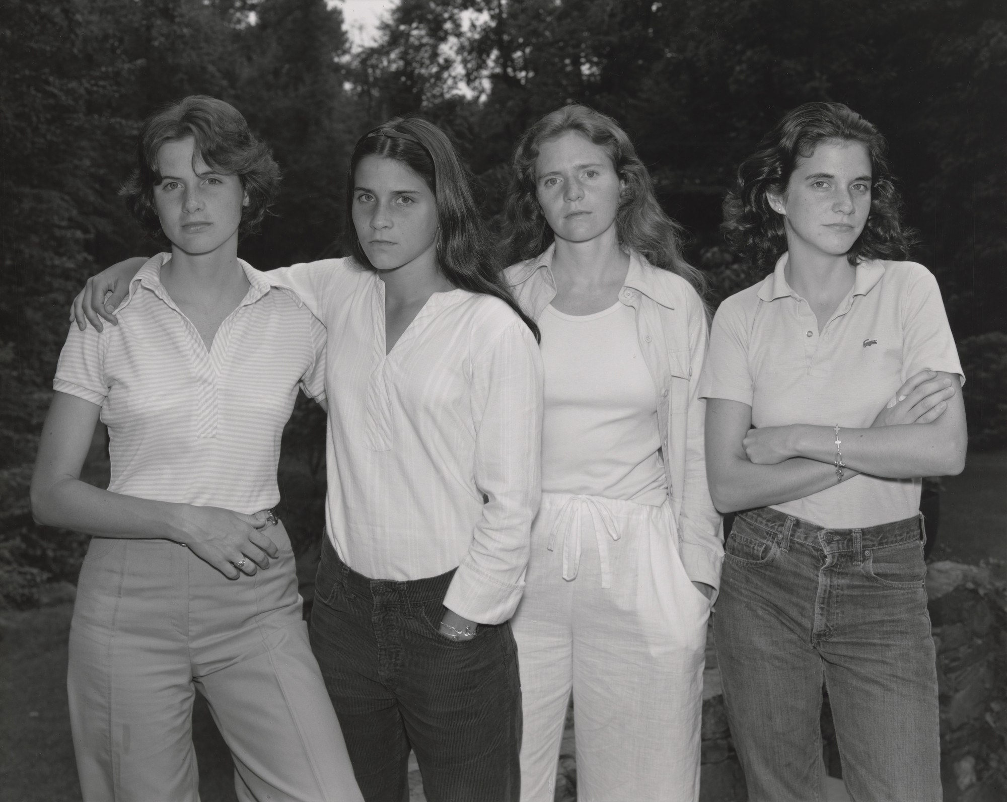 Nicholas Nixon. The Brown Sisters, New Canaan, Connecticut. 1975