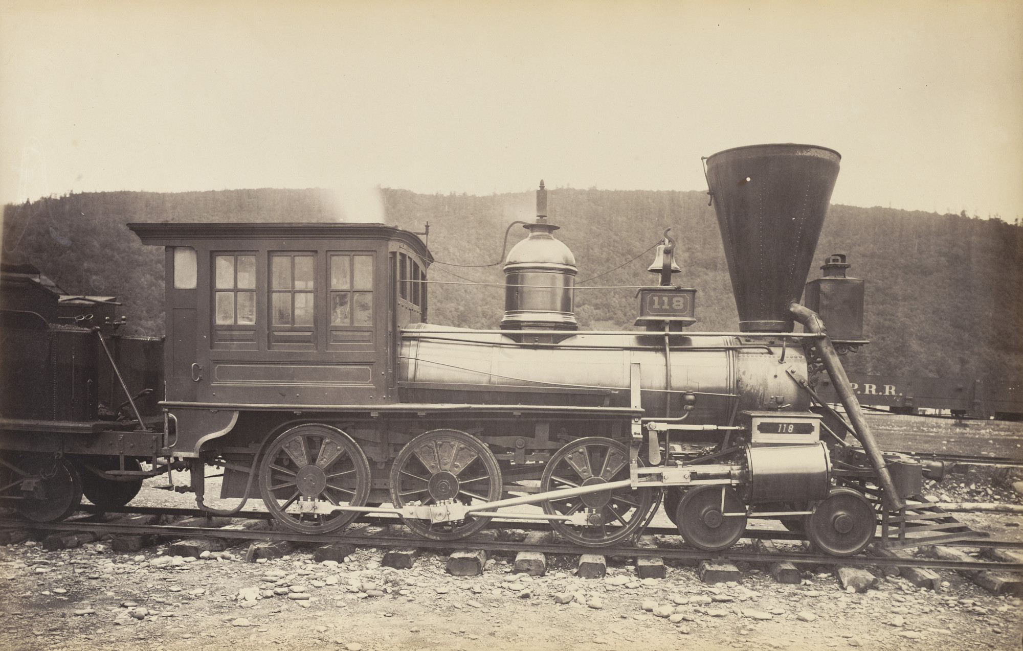 Unknown photographer. Untitled, Pennsylvania Railroad Engine. c. 1868