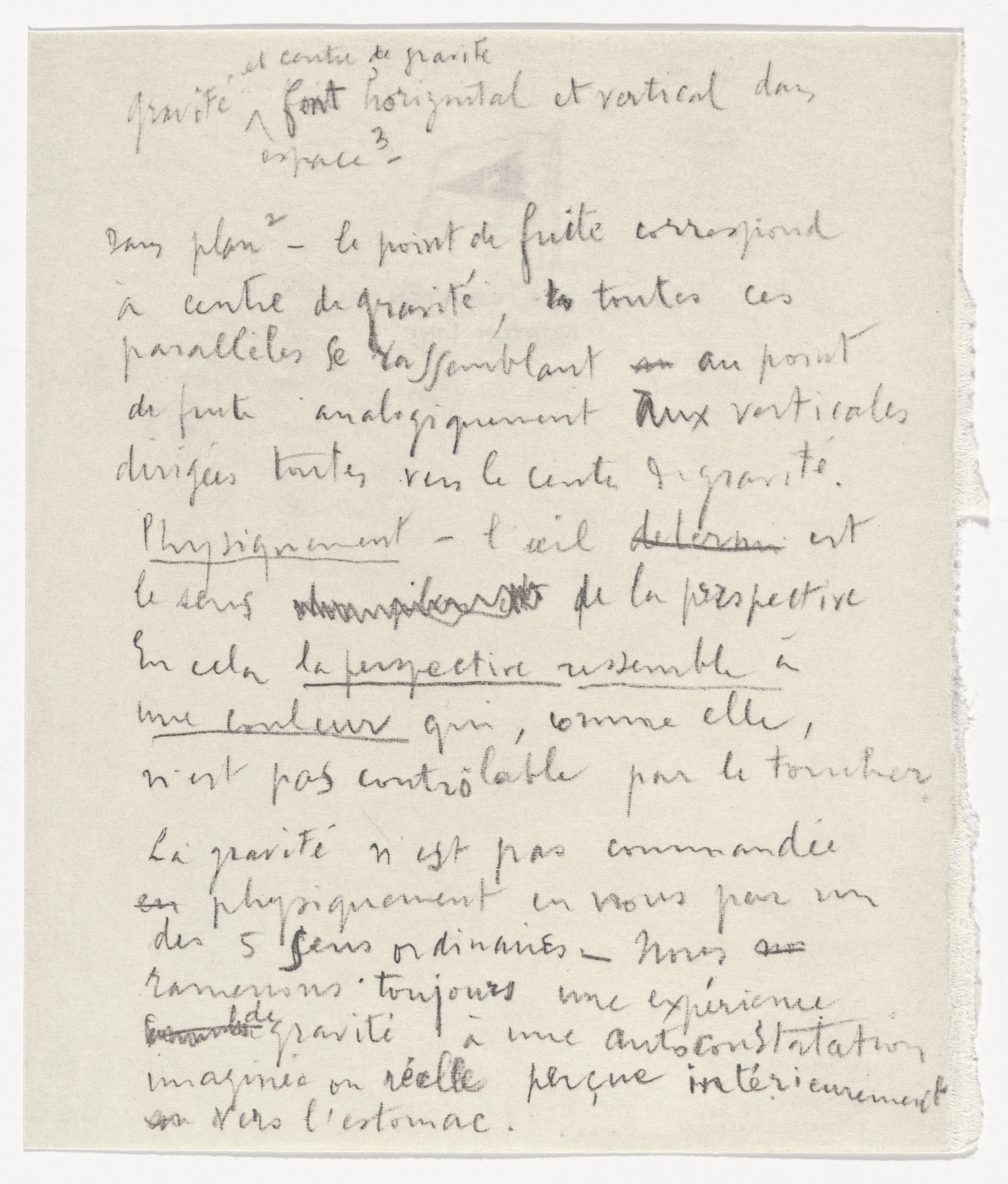 Marcel Duchamp. Perspective from À l'Infinitif (La Boîte Blanche) (In the Infinitive [The White Box]). 1912–20, published 1966