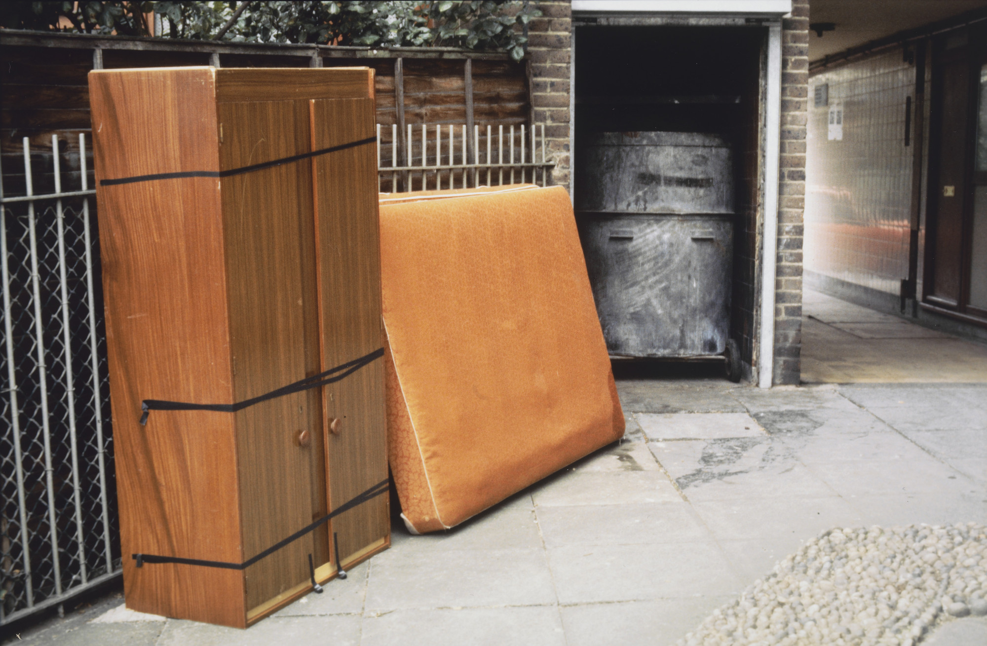 Rachel Whiteread. Furniture: Wardrobe and Bed, London. 1992