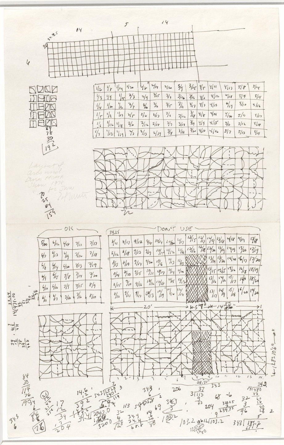 Sol LeWitt. Layout of Arcs and Lines. 1978