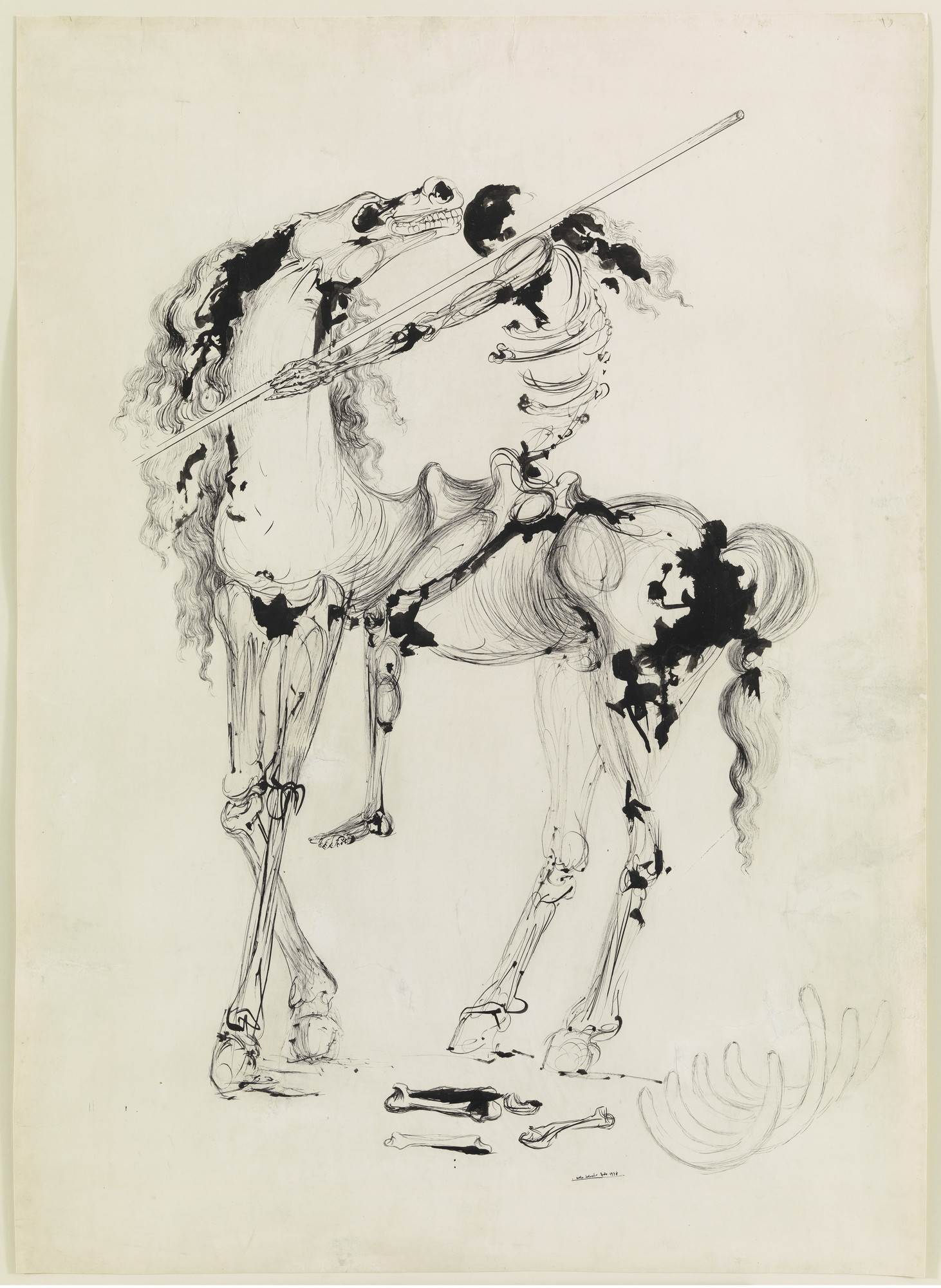 Salvador Dalí. Cavalier of Death. 1934