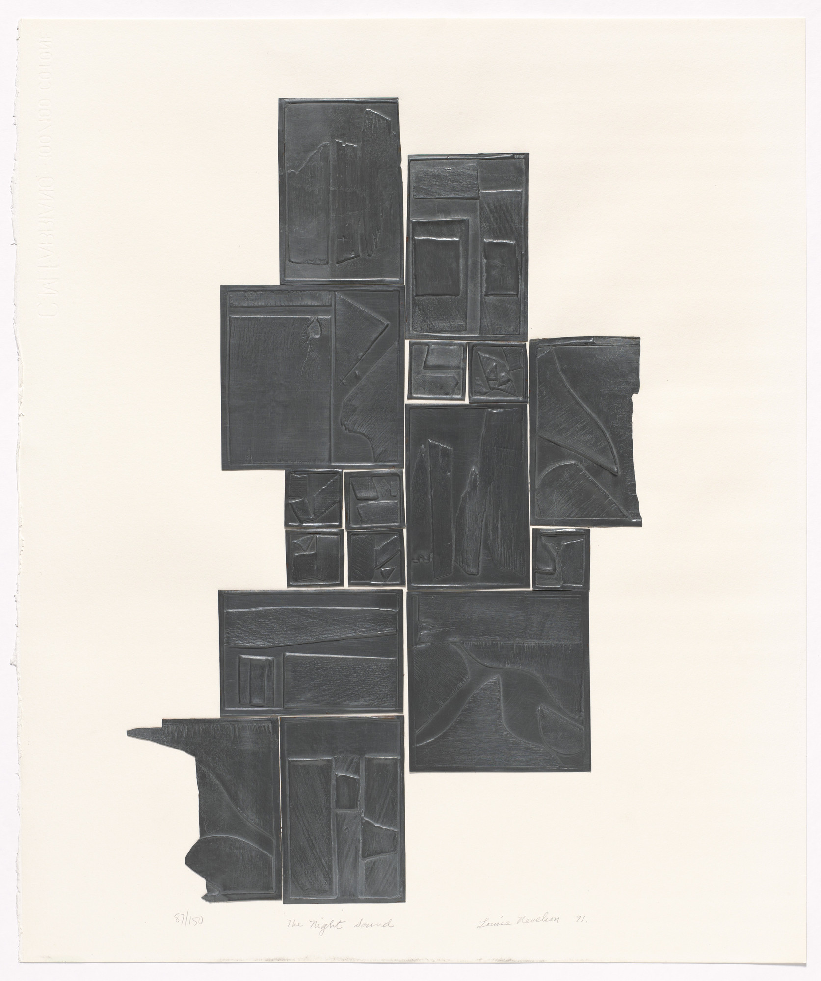 Louise Nevelson. The Night Sound. 1971