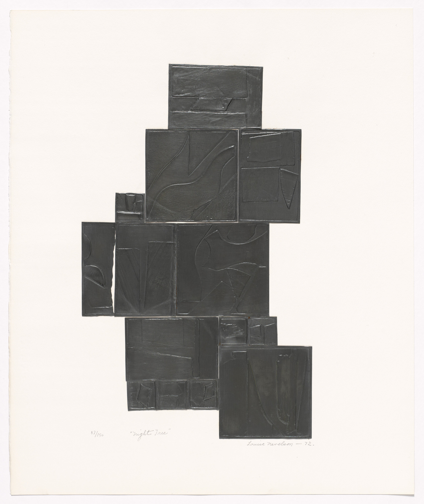 Louise Nevelson. Night Tree. 1972