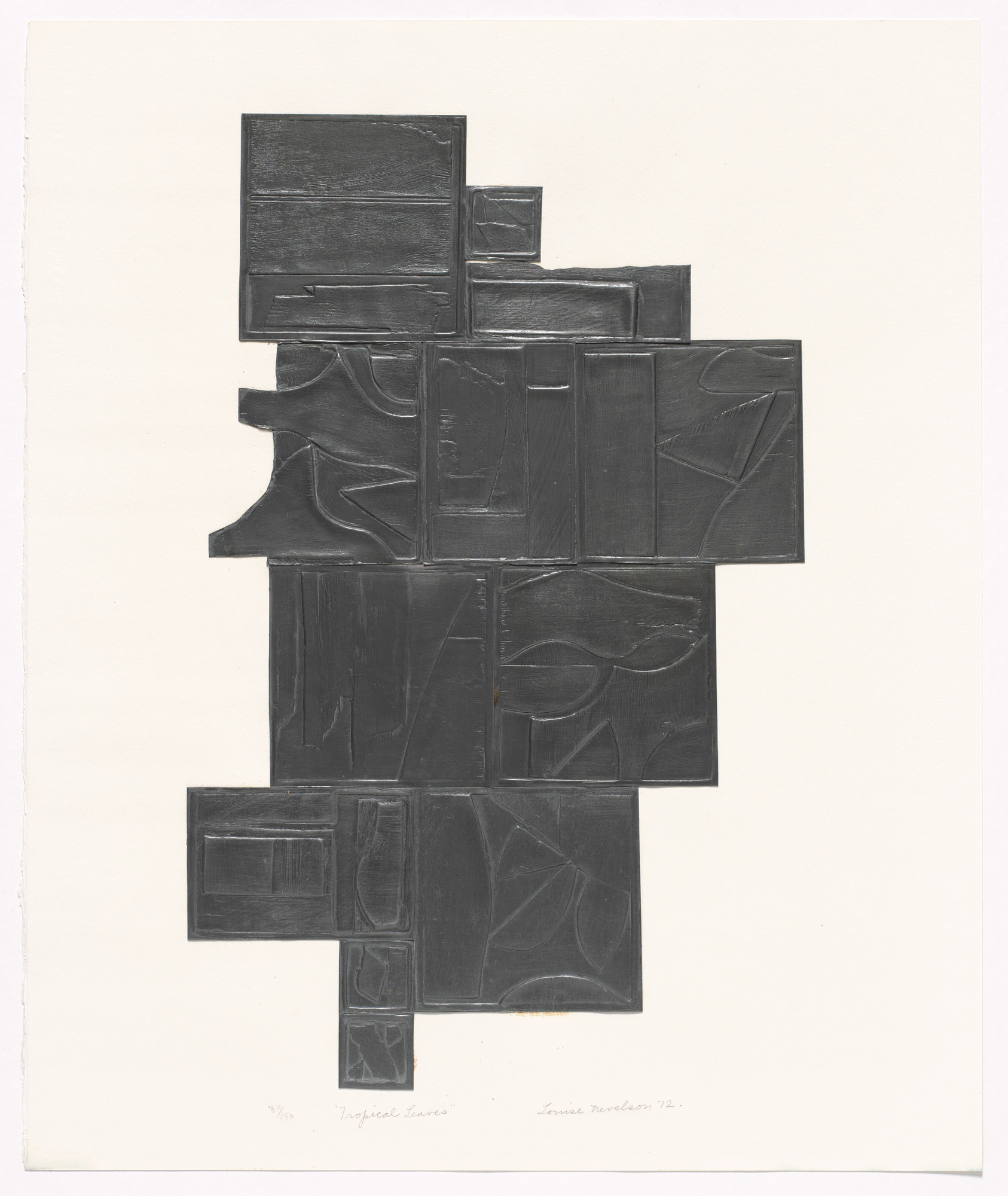 Louise Nevelson. Tropical Leaves. 1972