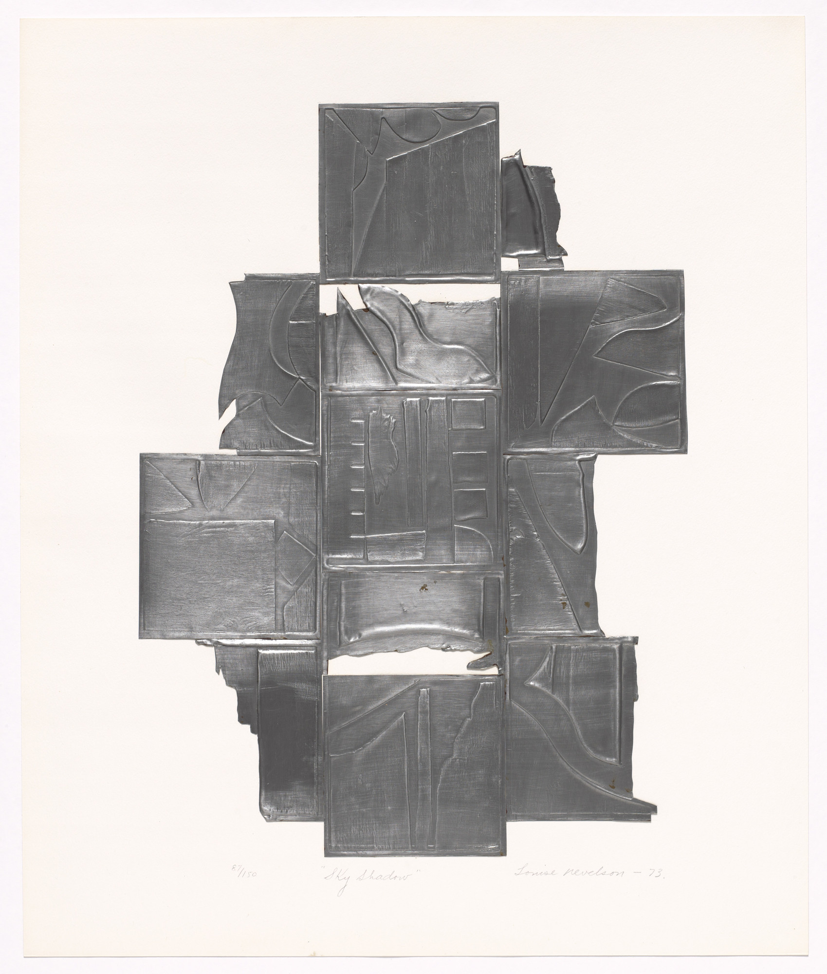 Louise Nevelson. Sky Shadow. 1973