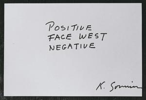 Positive, Face West, Negative