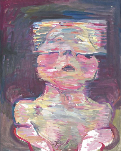 Maria Lassnig. Transparent Self-Portrait. 1987