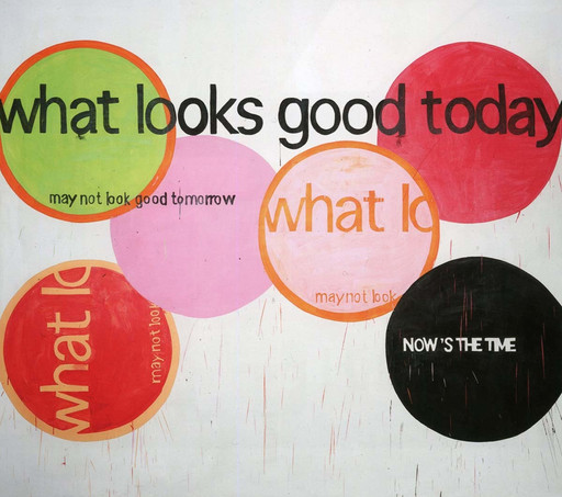 Michel Majerus. what looks good today may not look good tomorrow. 2000