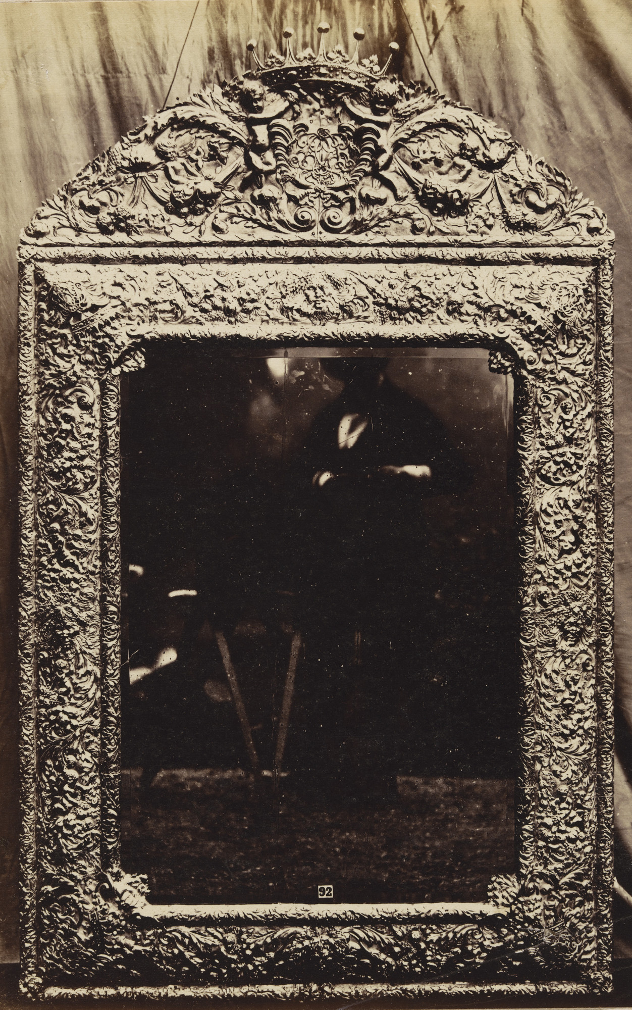 Charles Thurston Thompson. Late seventeenth-century silver repoussé mirror, attributed to Gerrit Jensen, d. 1715. 1853