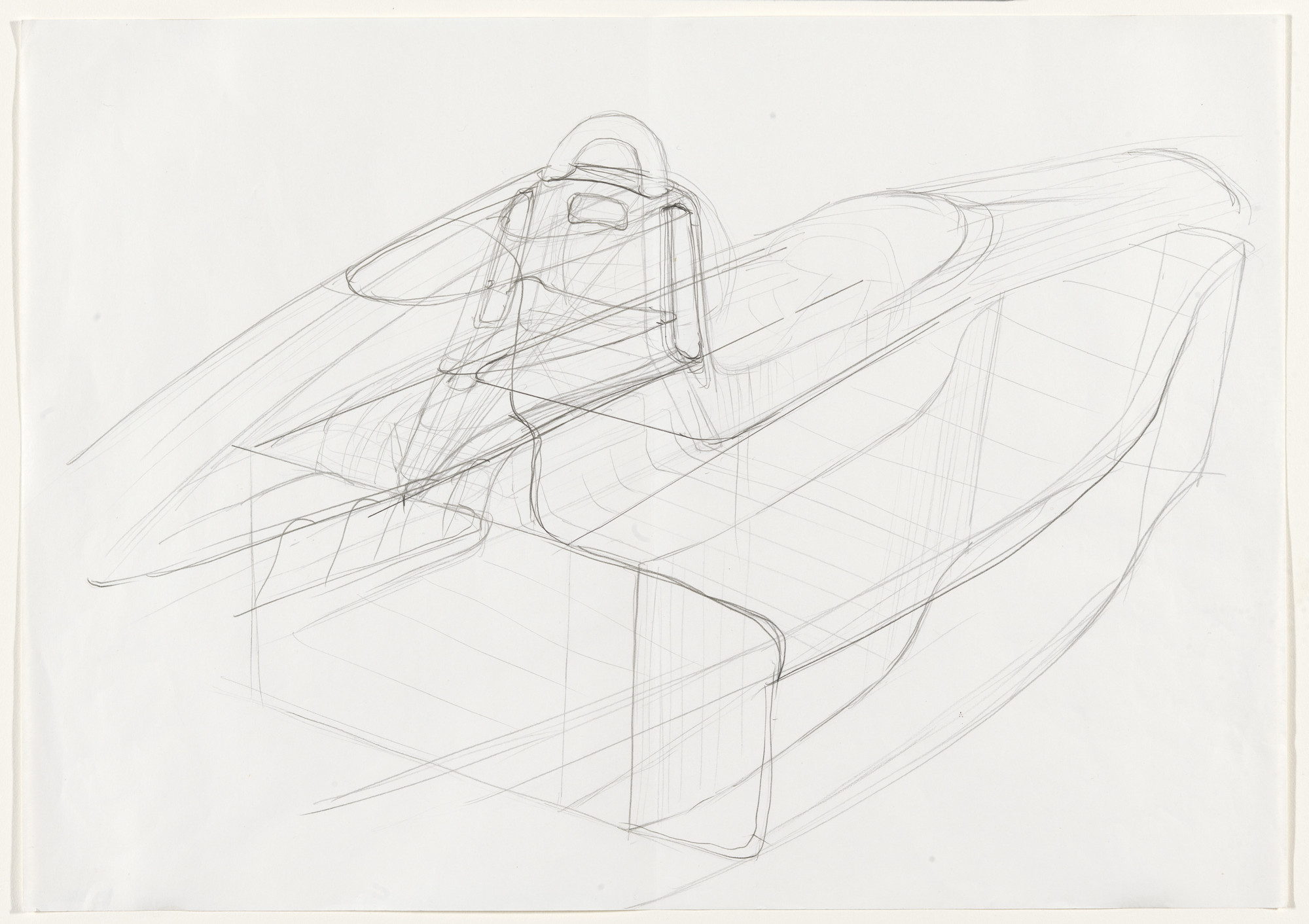 John Barnard. Sketch for body joints of Formula 1 car, Model #639. 1987