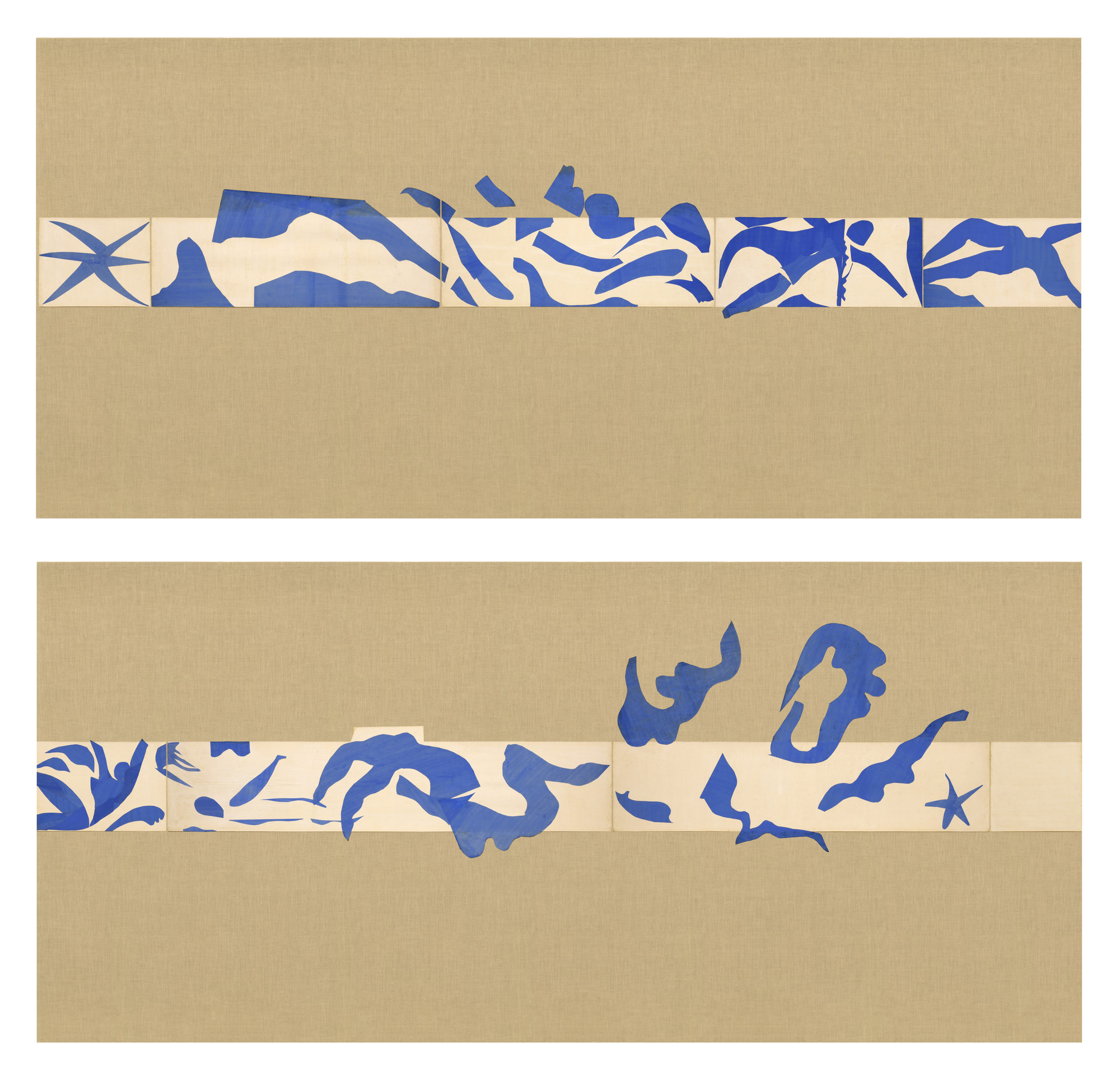 Henri Matisse. The Swimming Pool, Maquette for ceramic (realized 1999 and 2005). Nice-Cimiez, Hôtel Régina, late summer 1952