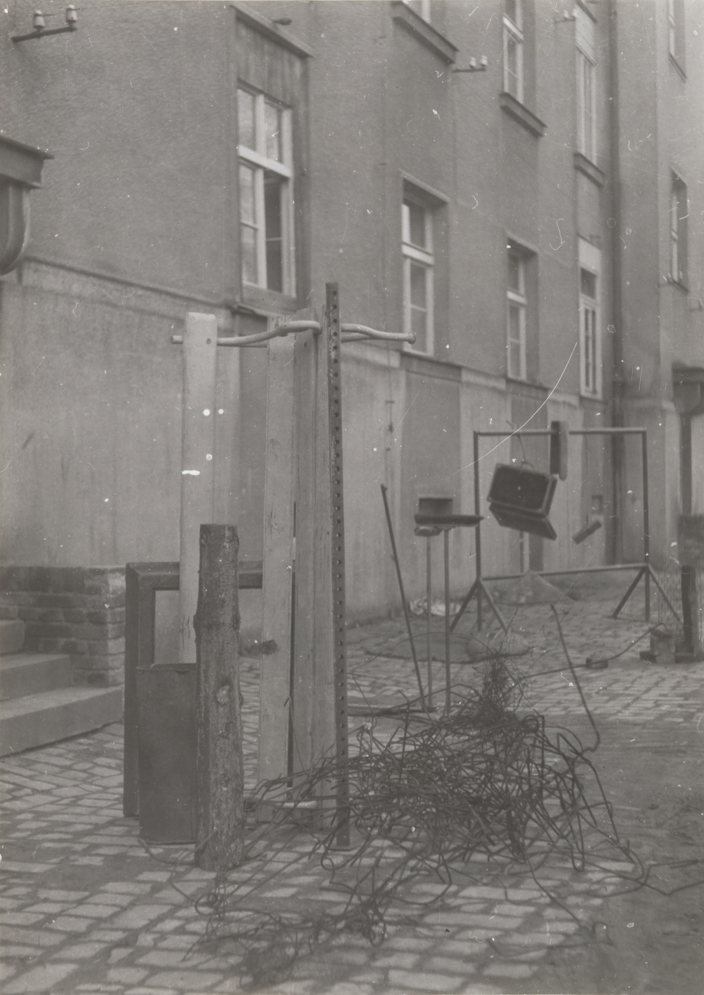 Milan Knížák. Environment in a Back-Yard from Performance Files. 1963