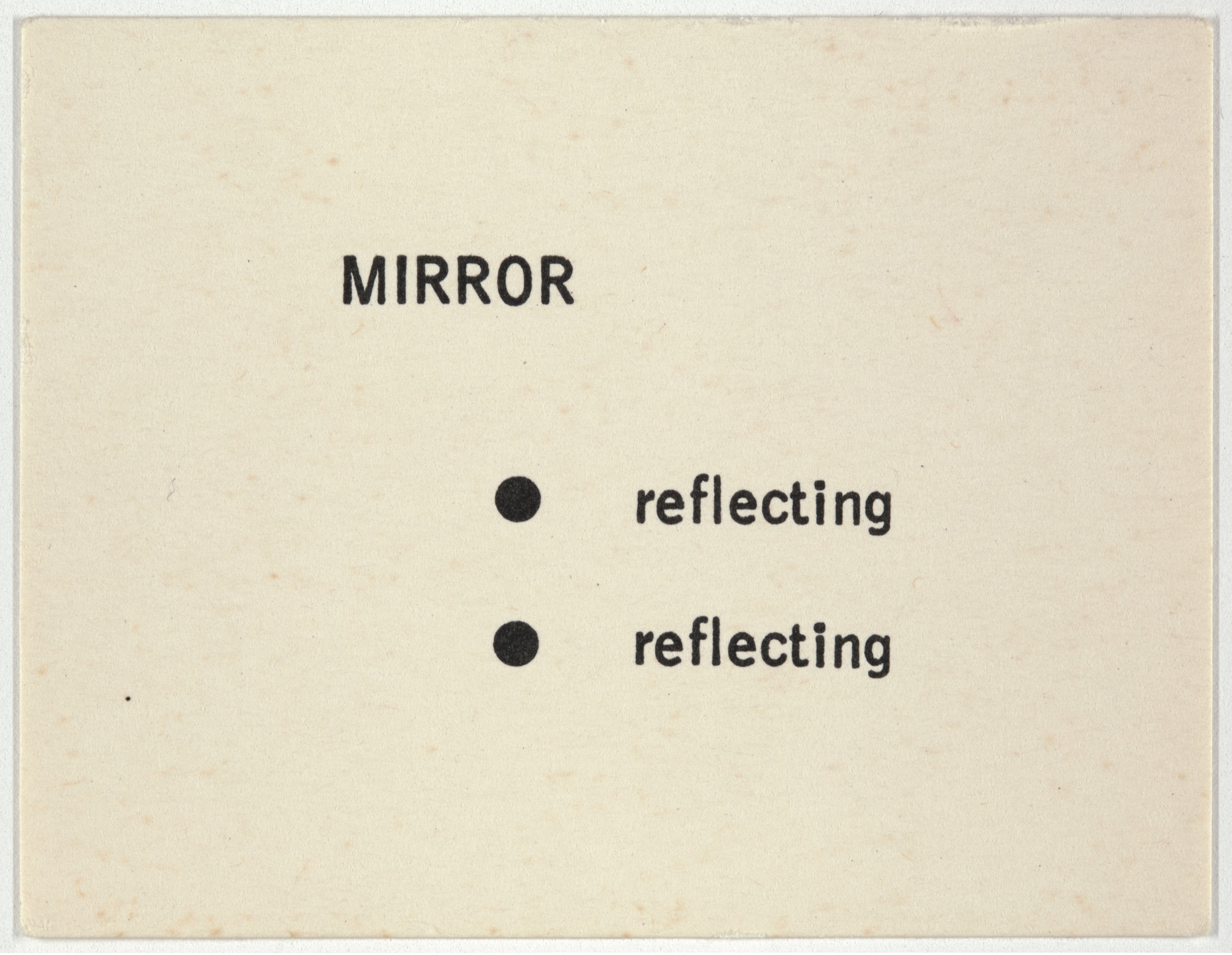 George Brecht. Mirror from Water Yam. 1963