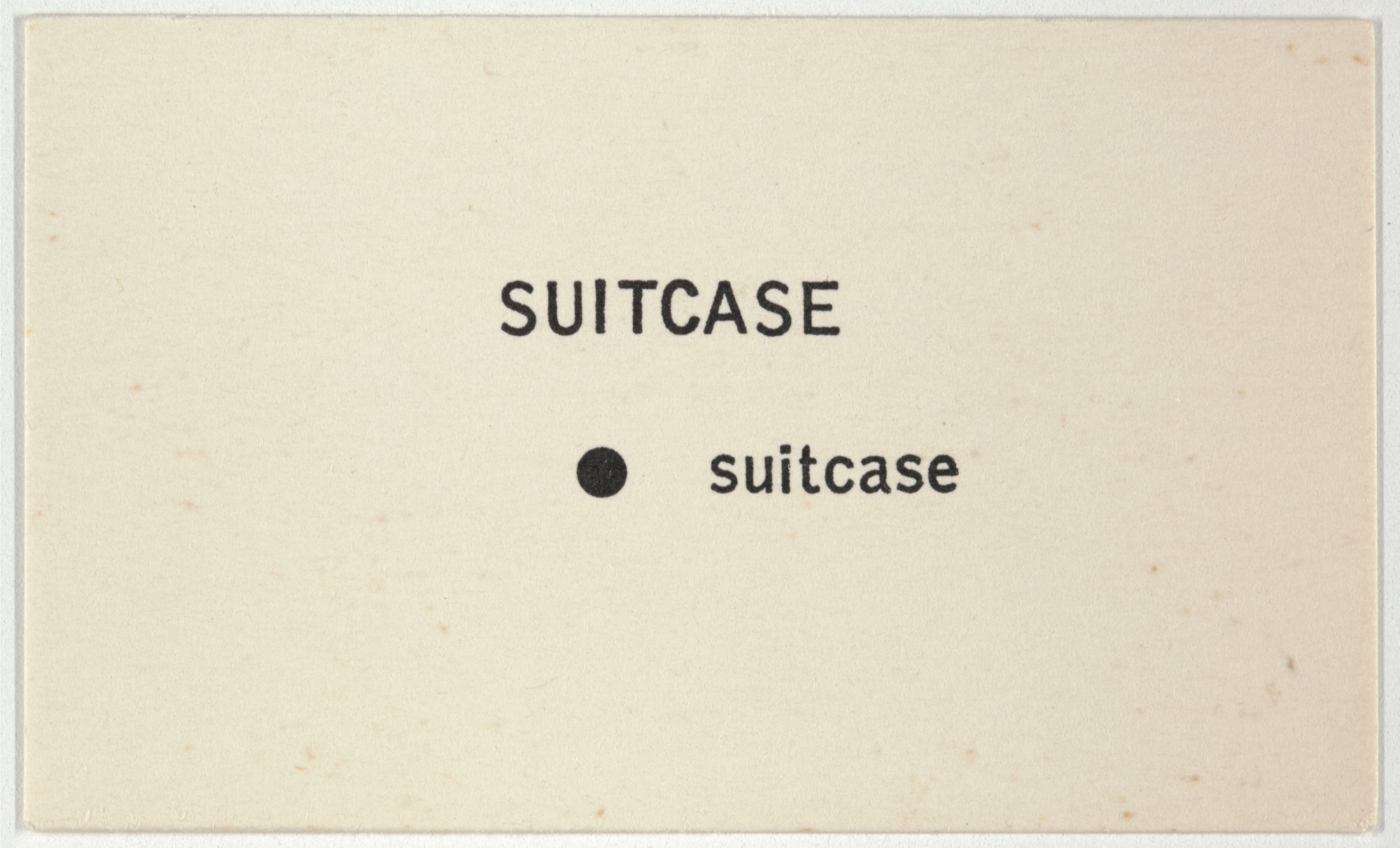 George Brecht. Suitcase from Water Yam. 1963