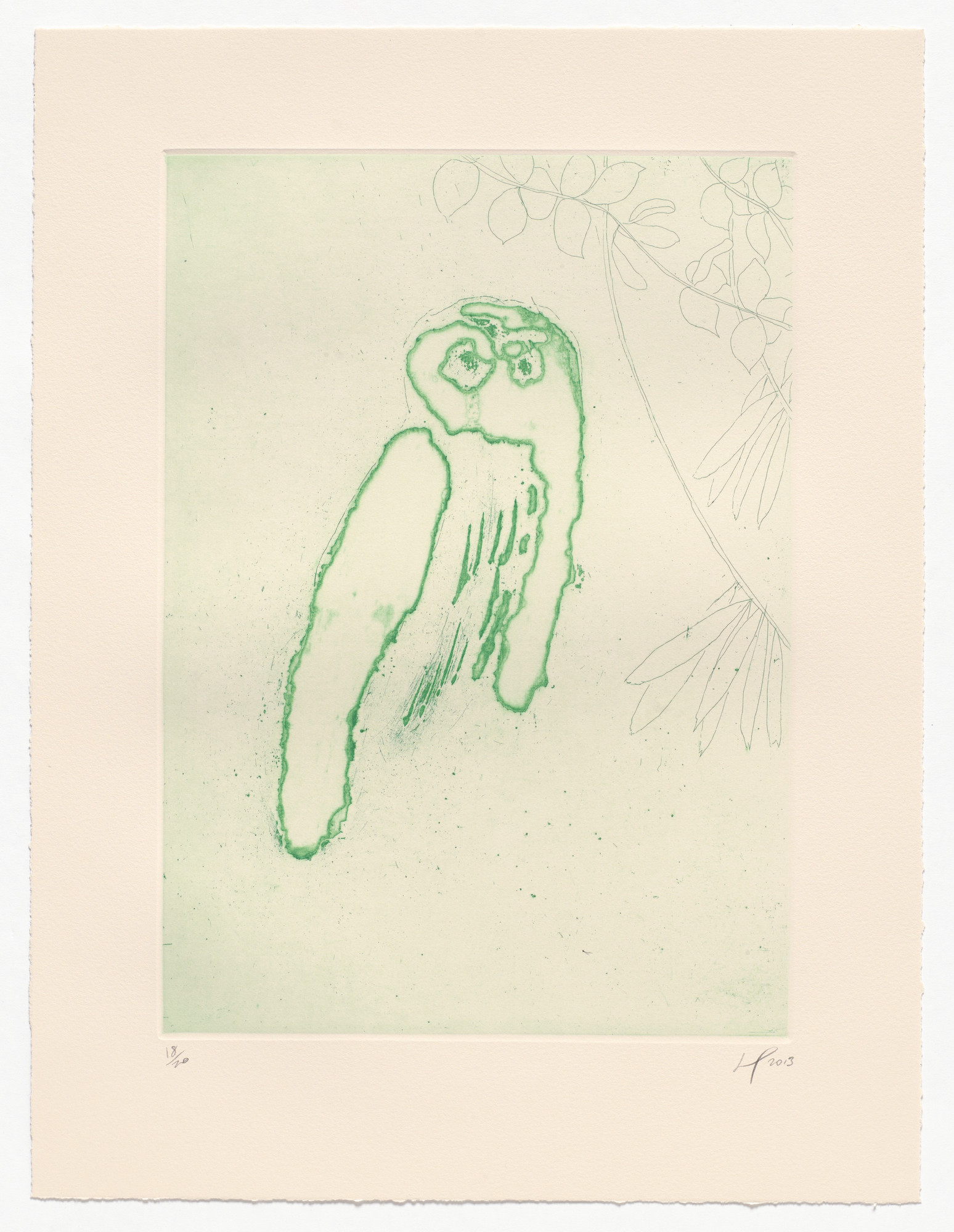 Peter Doig. Owl (Boscoe) from an untitled series. 2013