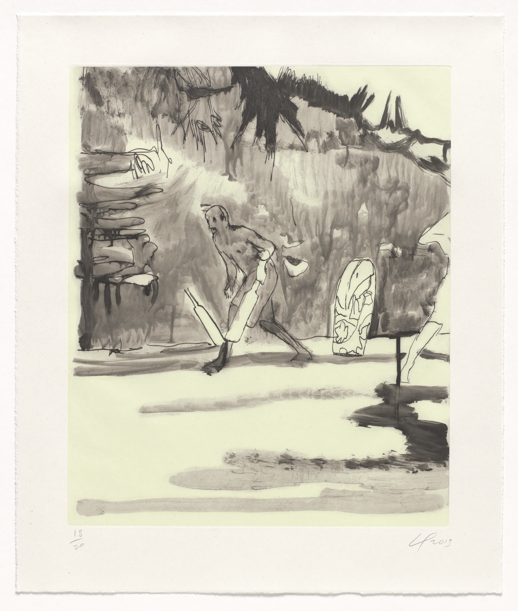 Peter Doig. Untitled, Small Cricket Player from an untitled series. 2013