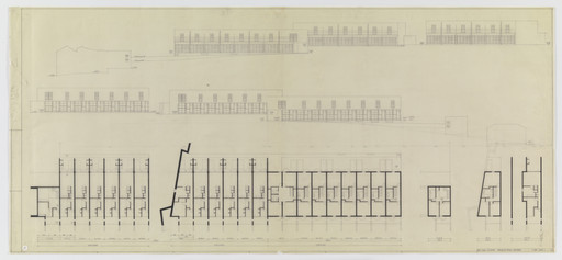 Álvaro Siza. SAAL S. Victor Social Housing, Porto, Portugal (Elevations and plans). 1974-1977