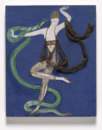 Florine Stettheimer. Costume design (Euridice and the Snake) for the artist's ballet Orphée of the Quat-z-arts. c. 1912