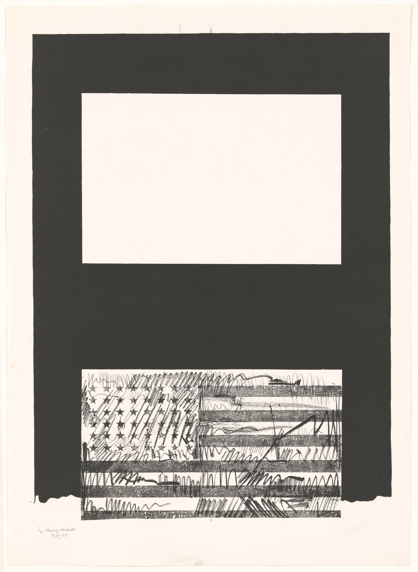 Jasper Johns. Trial proof for Flags. 1967