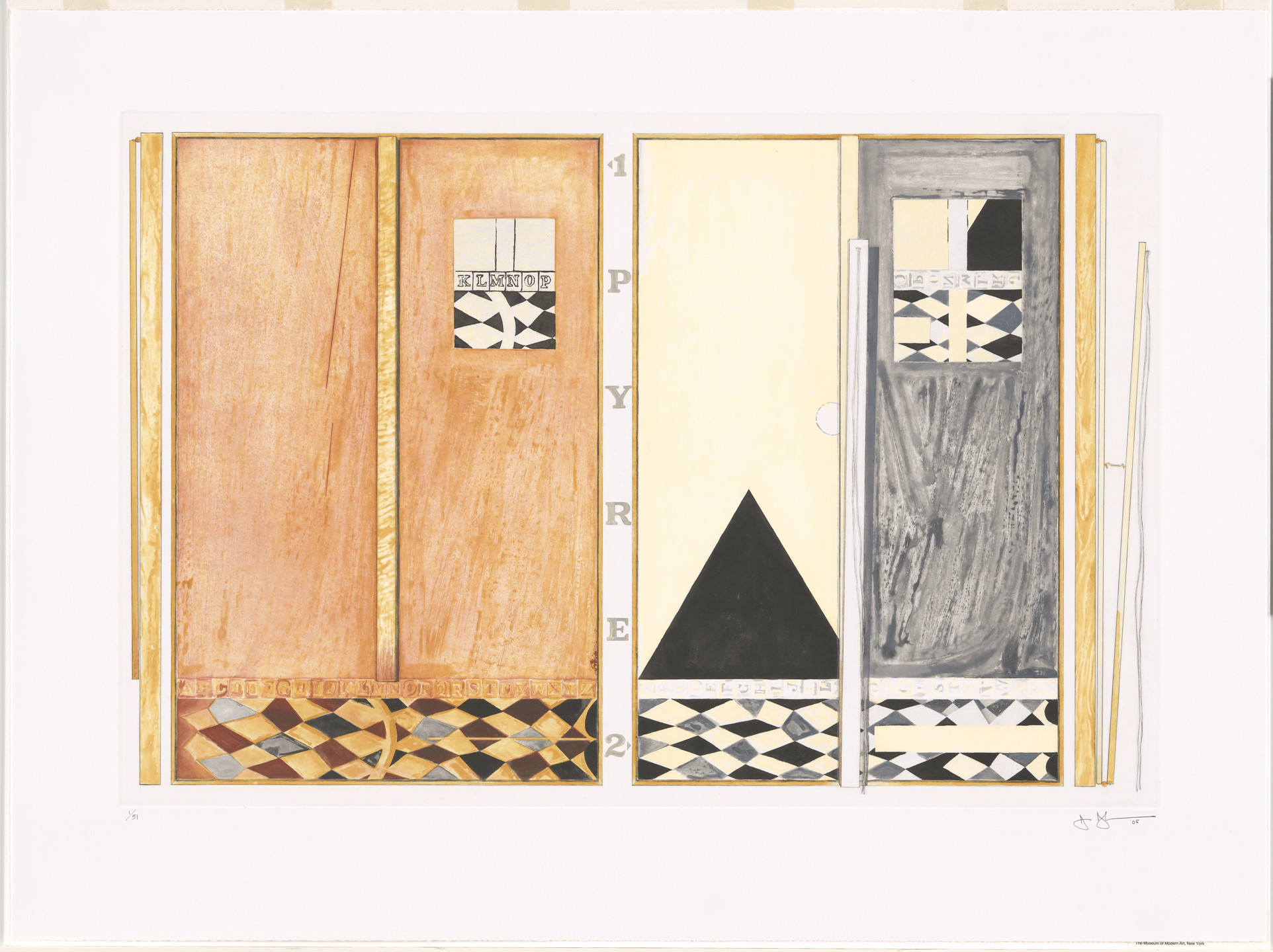Jasper Johns. Pyre 1 and 2. 2005