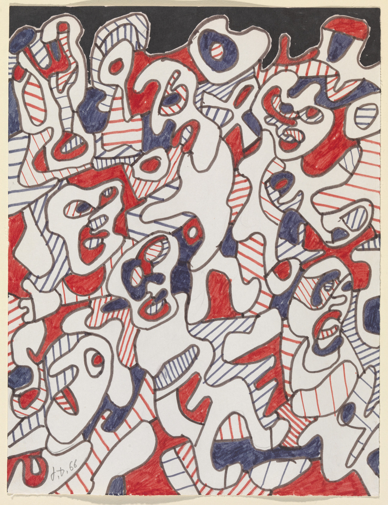 Jean Dubuffet Verbal Agreement Six Figures 1966 Moma