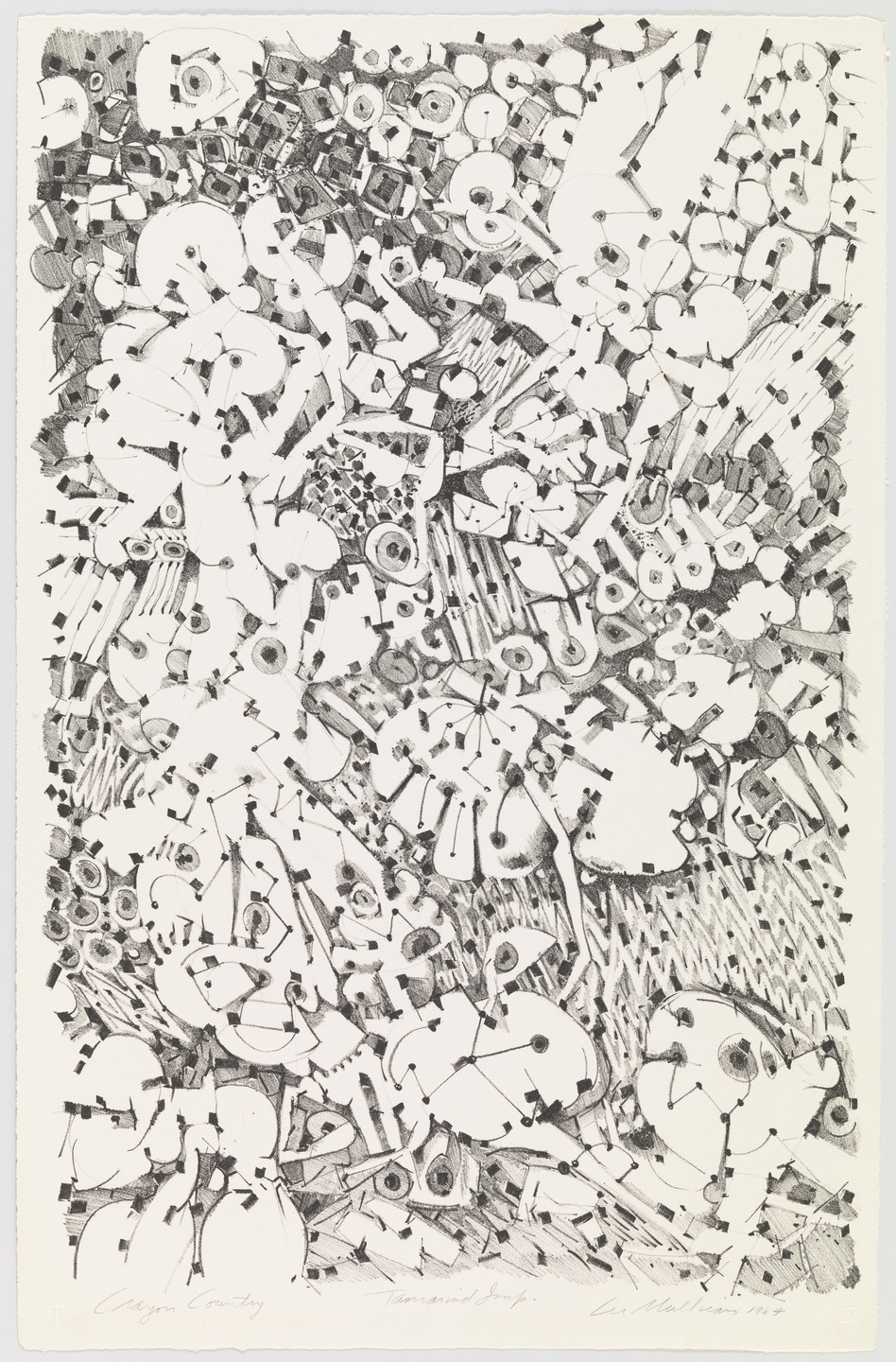 Lee Mullican. Crayon Country. 1964