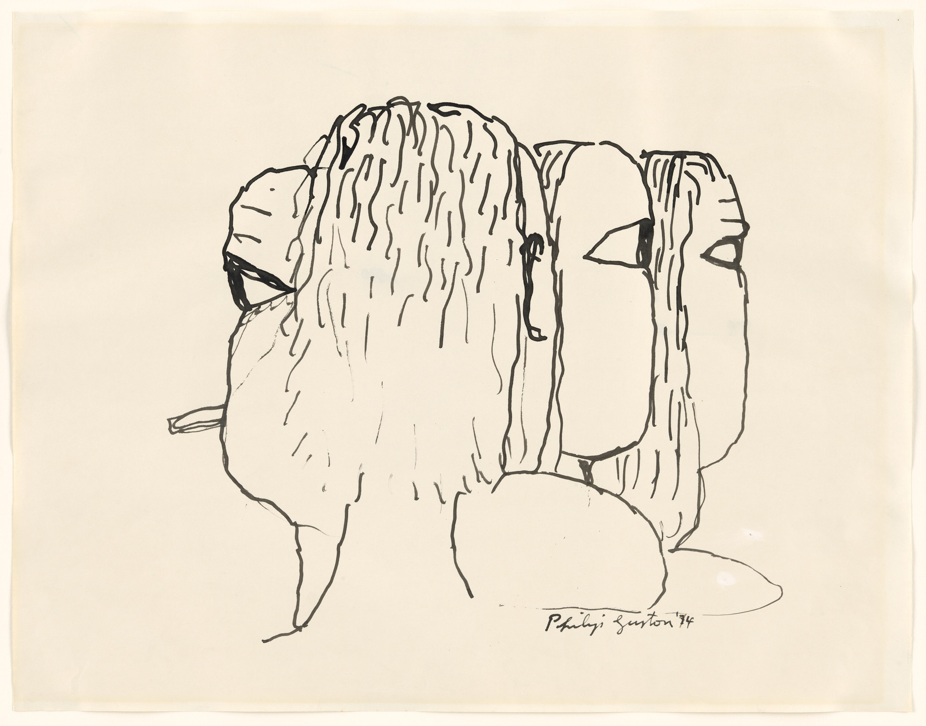 Philip Guston. Four Heads. 1974