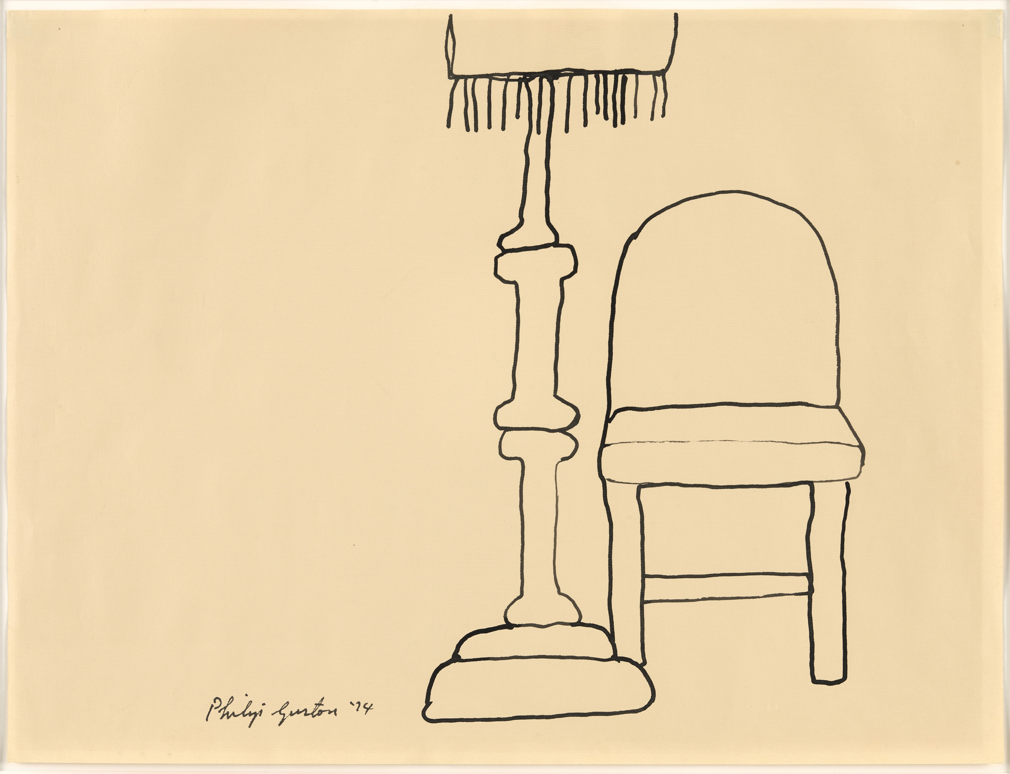 Philip Guston. Lamp and Chair. 1974