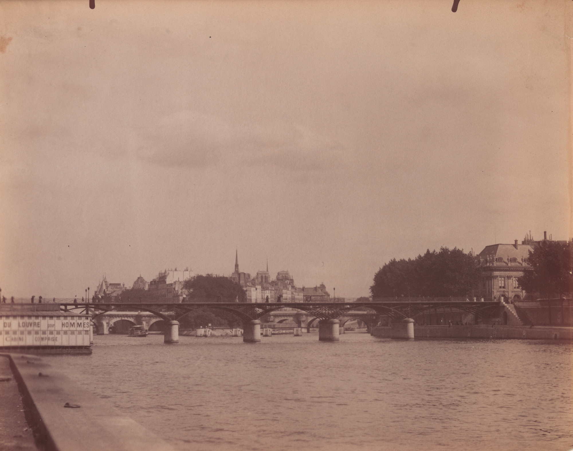 Eugène Atget. Untitled [View of the Seine and the Ile de la Cité]. 1899