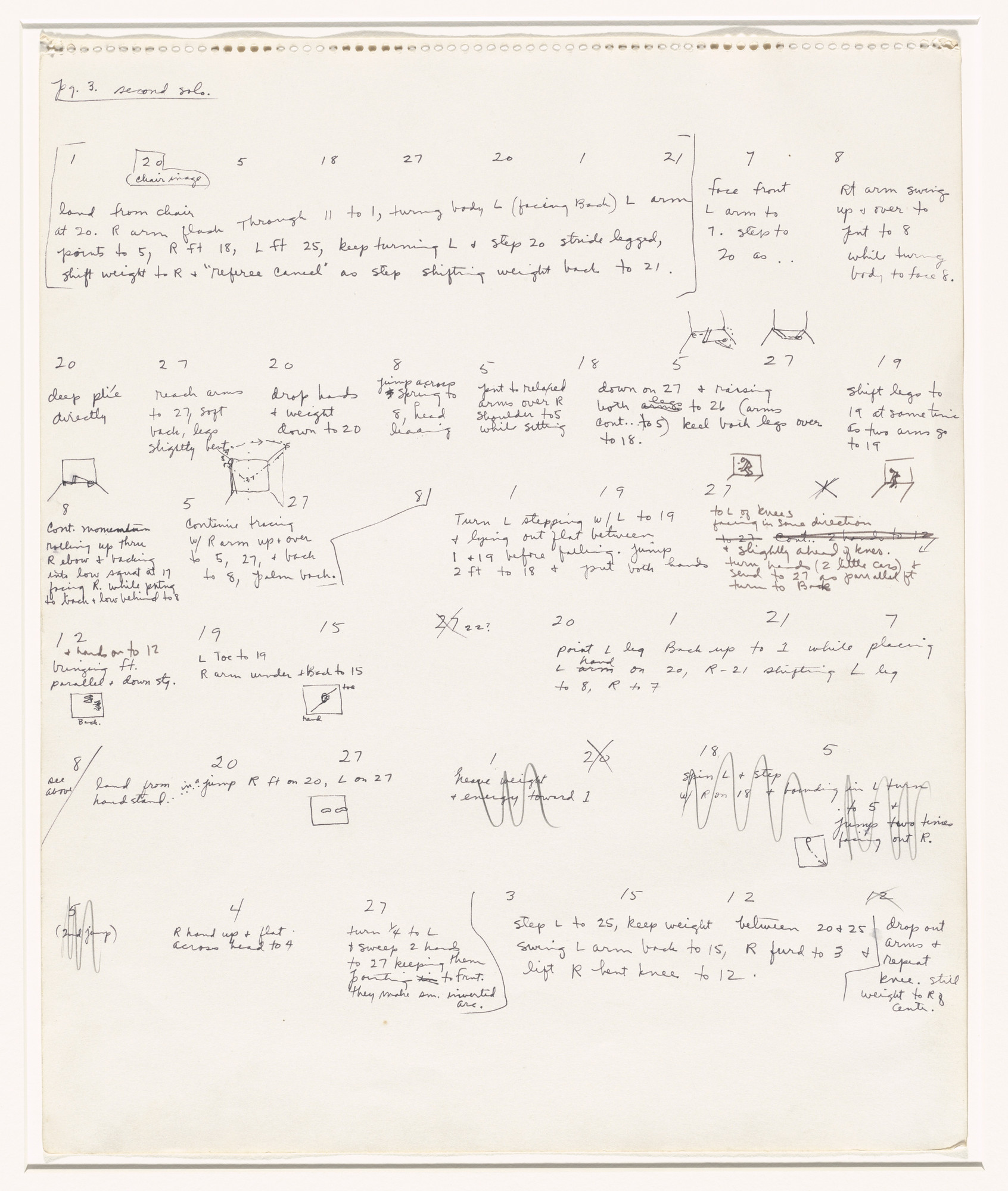 Trisha Brown. Untitled (Locus). (1975)