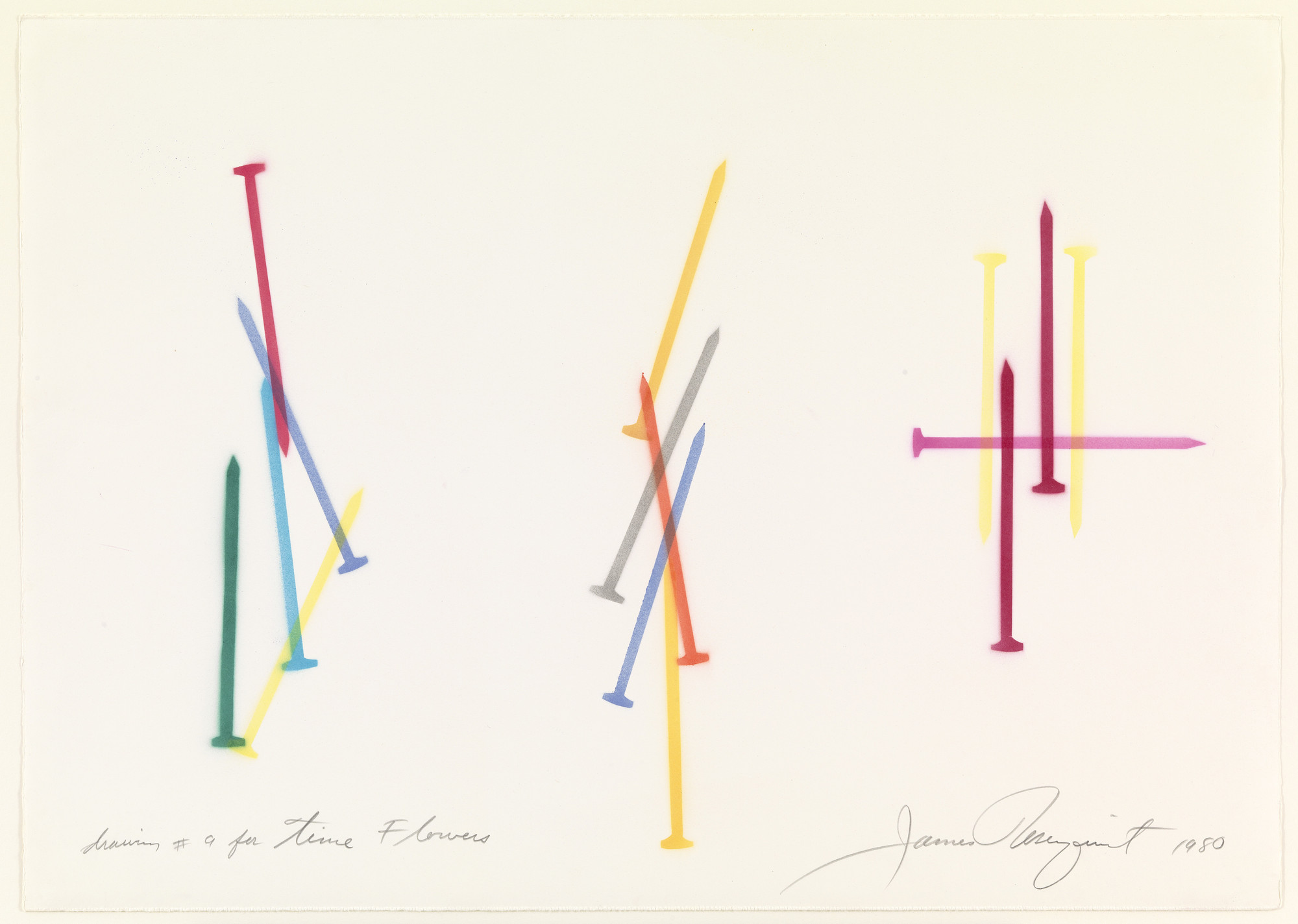 James Rosenquist. Drawing #9 for Time Flowers. 1980