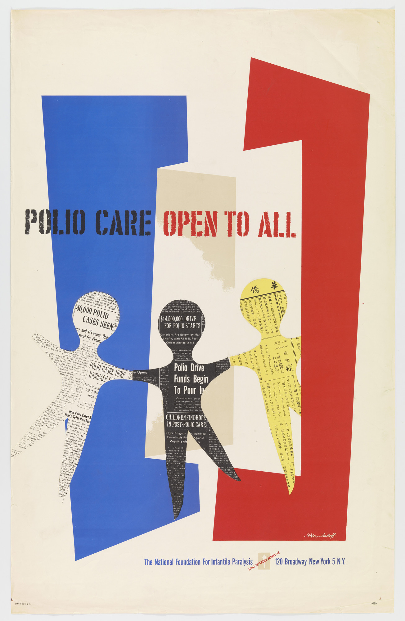 Milton Ackoff. Polio Care Open to All. 1949