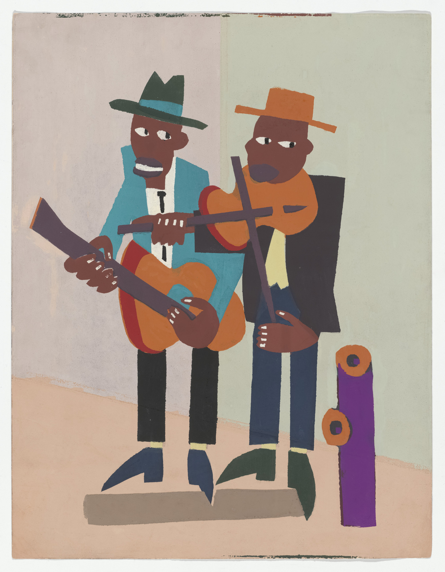 William H. Johnson. Street Musicians. c. 1941