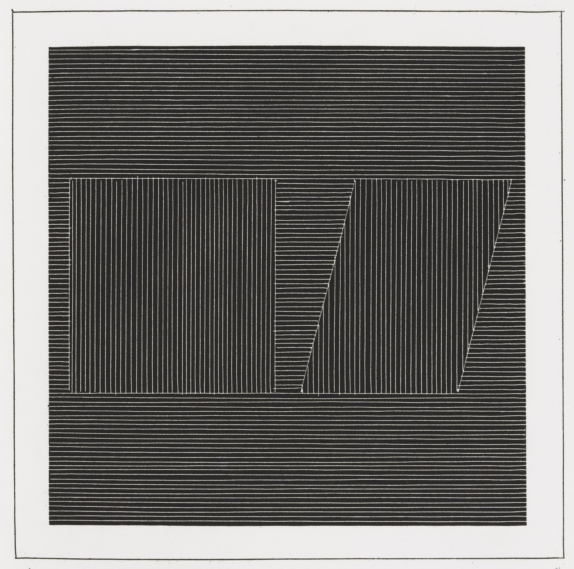 Sol LeWitt. Plate (folio 12) from Six Geometric Figures and All Their Combinations, Volume I. 1980