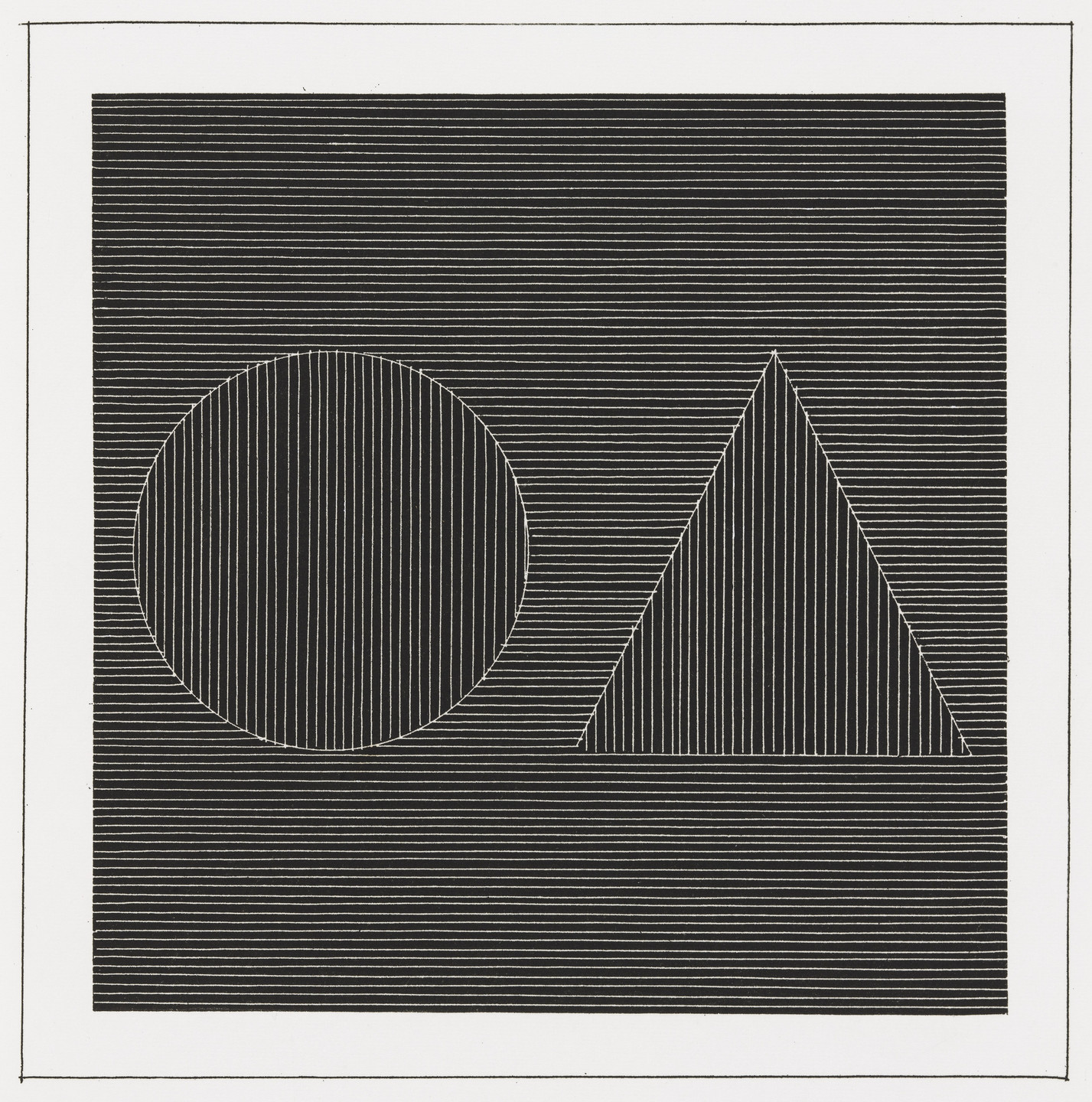 Sol LeWitt. Plate (folio 13) from Six Geometric Figures and All Their Combinations, Volume I. 1980