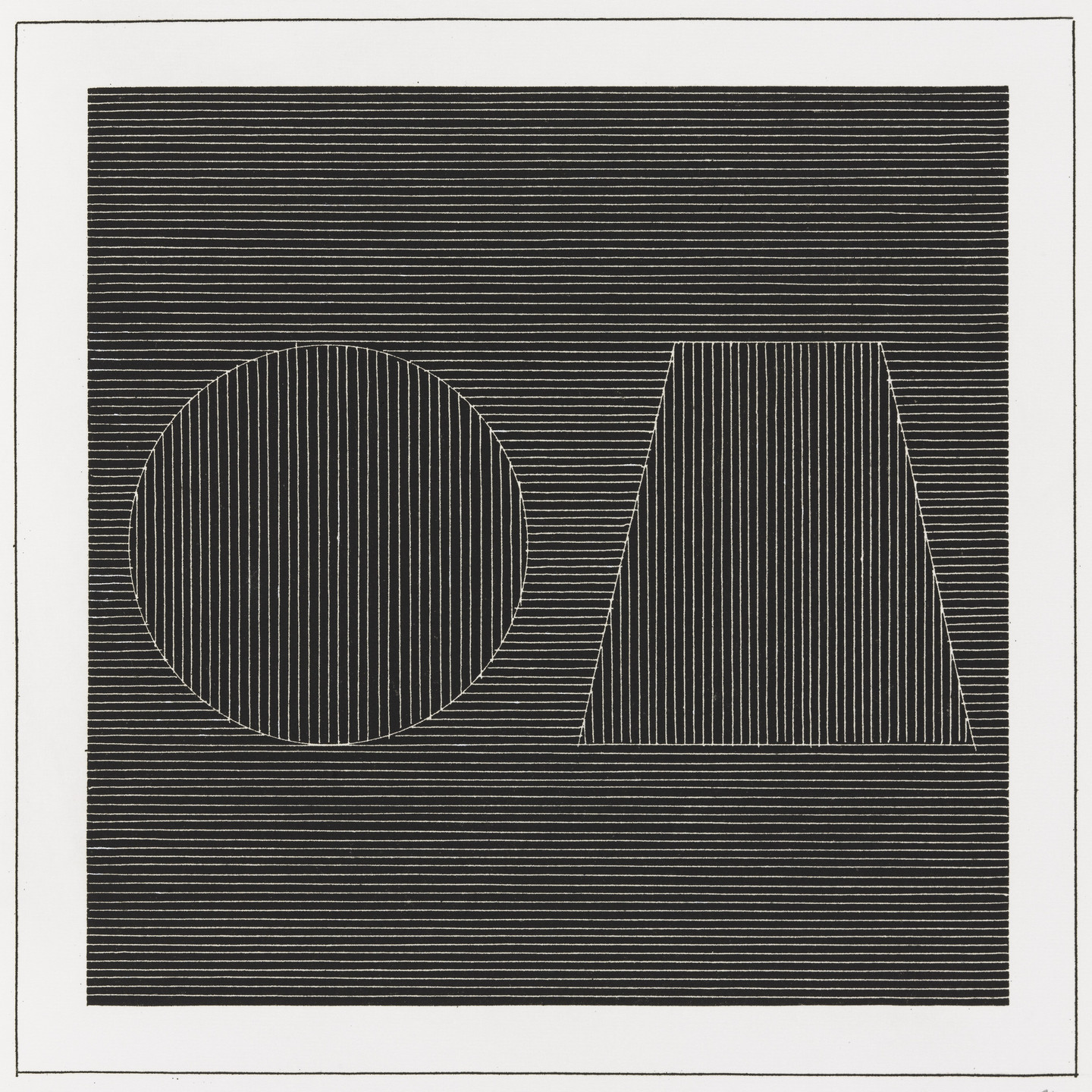 Sol LeWitt. Plate (folio 15) from Six Geometric Figures and All Their Combinations, Volume I. 1980