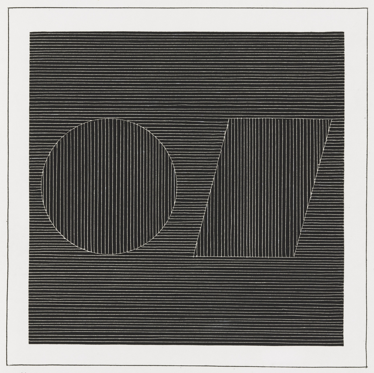 Sol LeWitt. Plate (folio 16) from Six Geometric Figures and All Their Combinations, Volume I. 1980