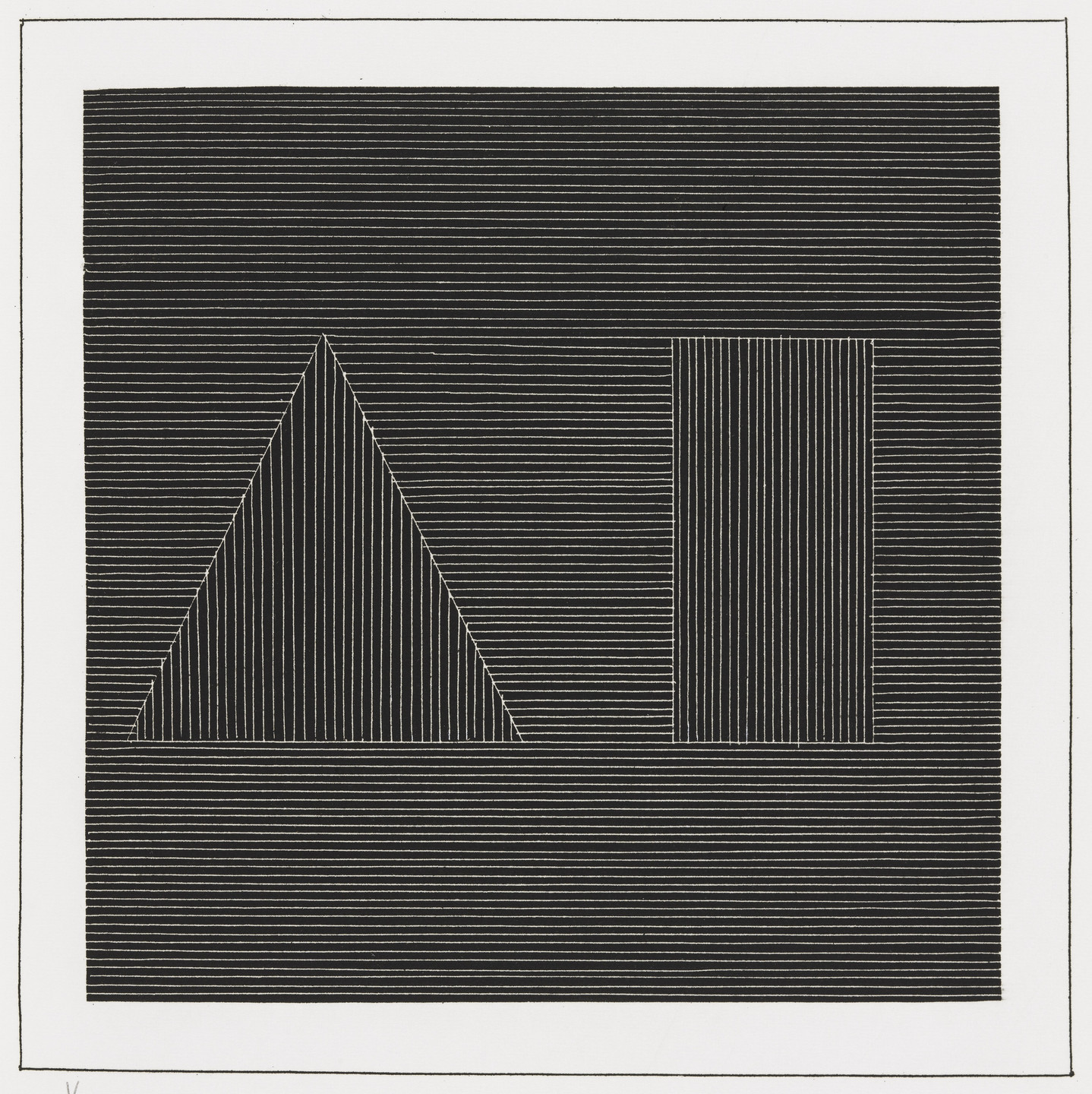 Sol LeWitt. Plate (folio 17) from Six Geometric Figures and All Their Combinations, Volume I. 1980