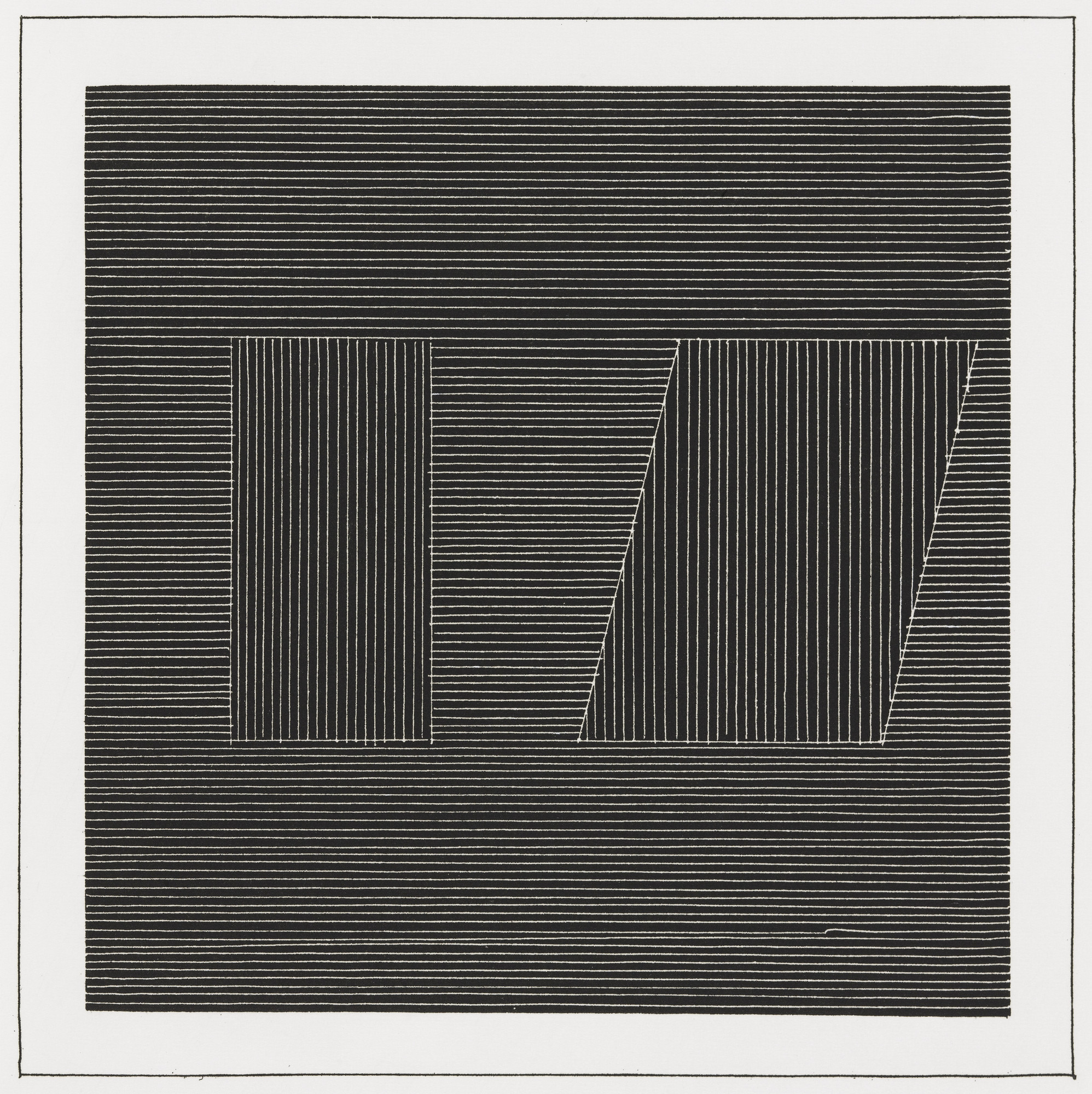 Sol LeWitt. Plate (folio 21) from Six Geometric Figures and All Their Combinations, Volume I. 1980