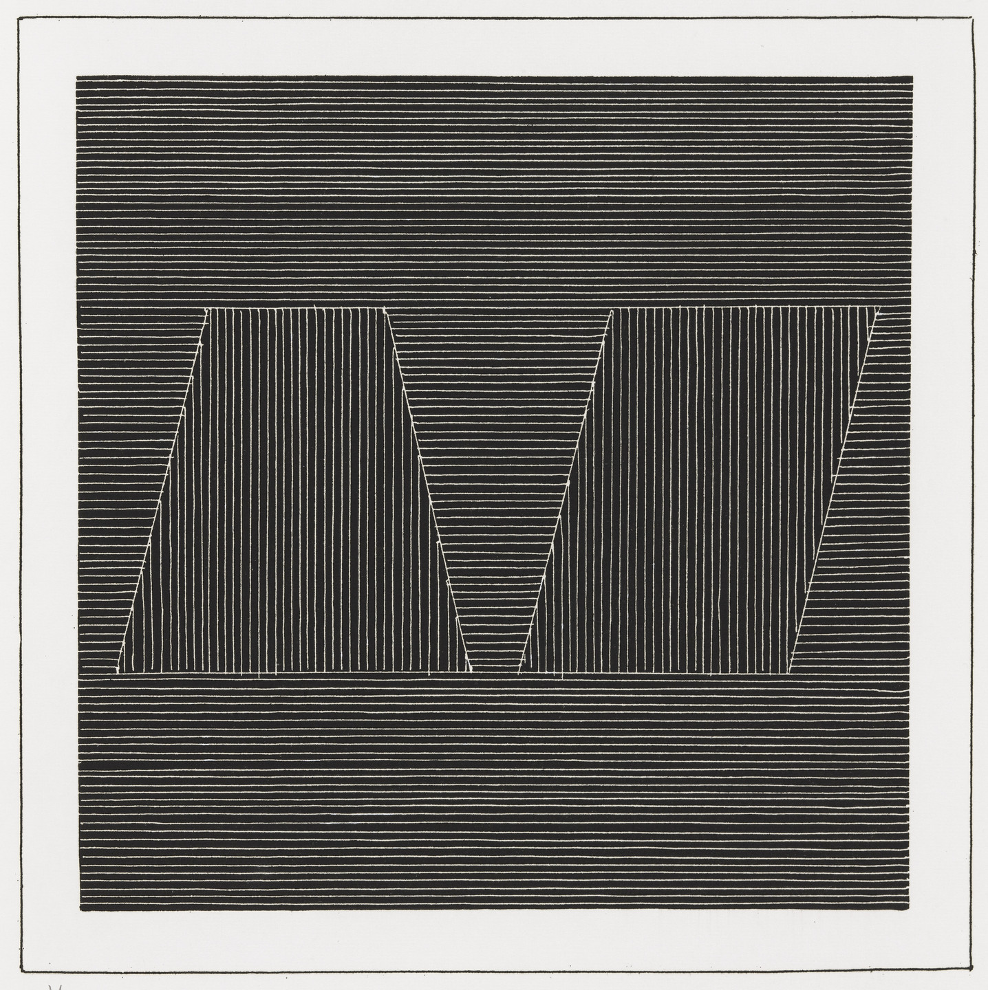Sol LeWitt. Plate (folio 22) from Six Geometric Figures and All Their Combinations, Volume I. 1980