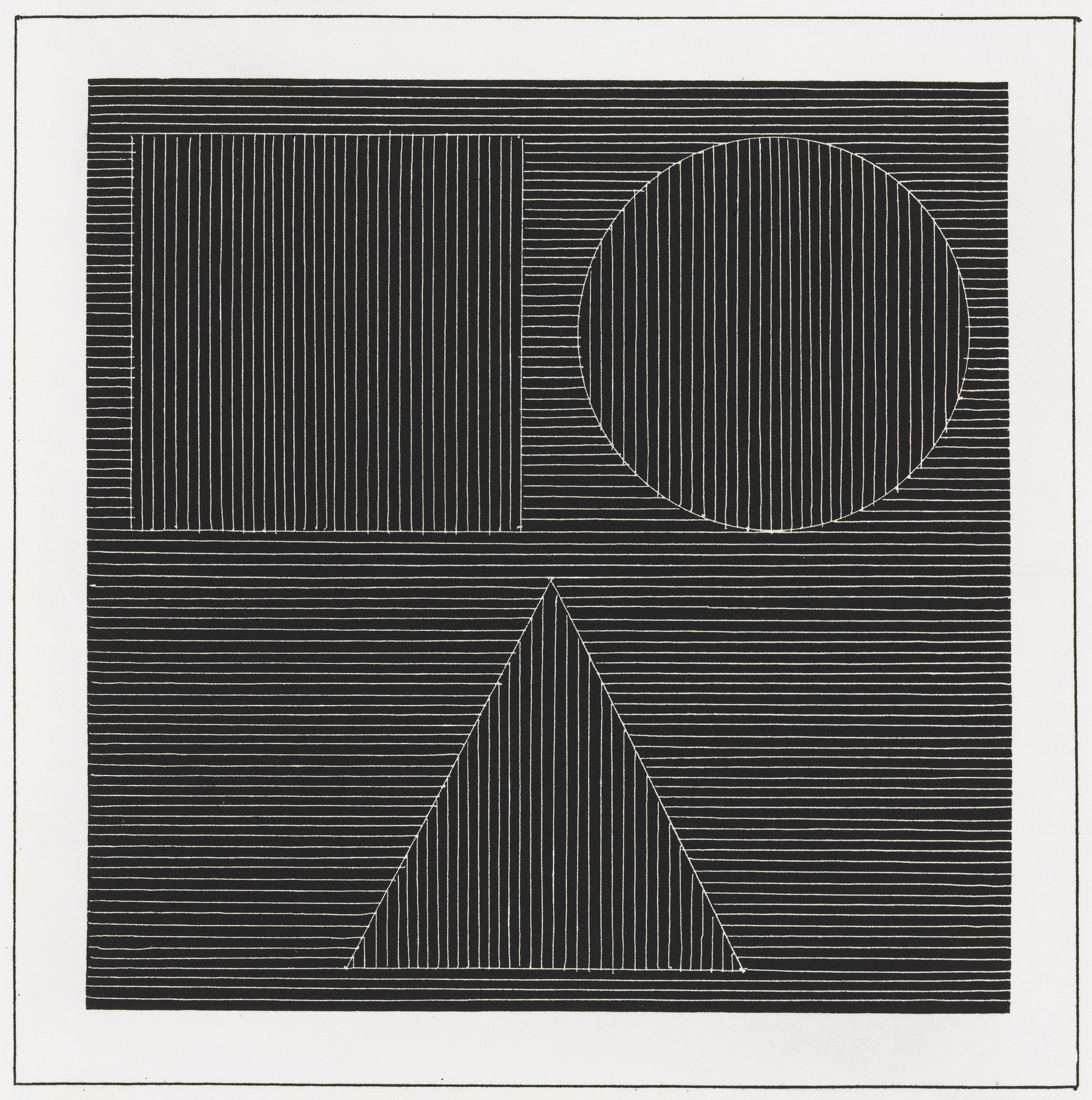 Sol LeWitt. Plate (folio 23) from Six Geometric Figures and All Their Combinations, Volume I. 1980