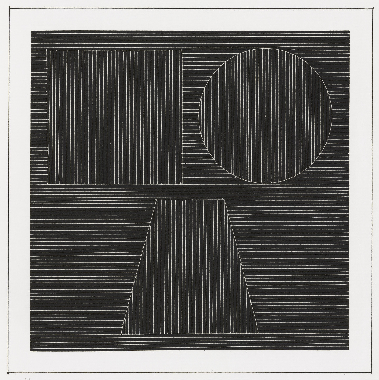 Sol LeWitt. Plate (folio 25) from Six Geometric Figures and All Their Combinations, Volume I. 1980