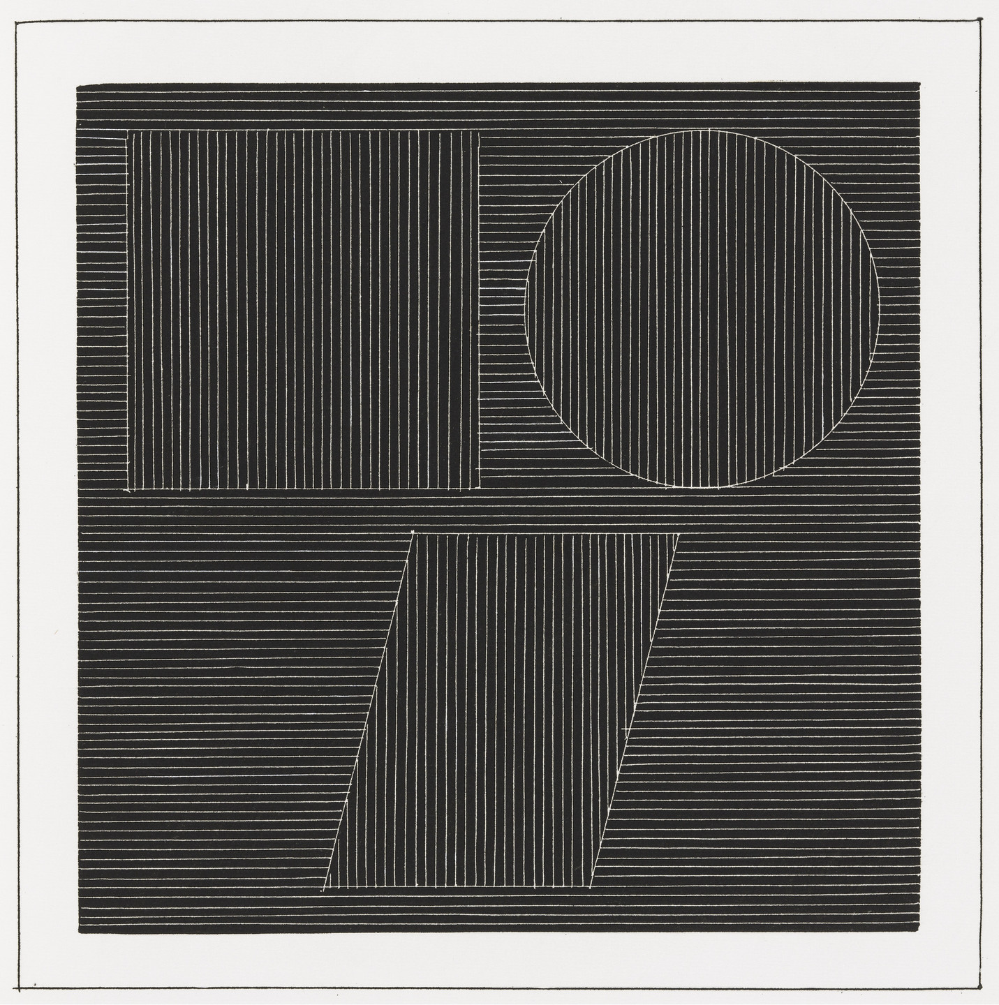 Sol LeWitt. Plate (folio 26) from Six Geometric Figures and All Their Combinations, Volume I. 1980