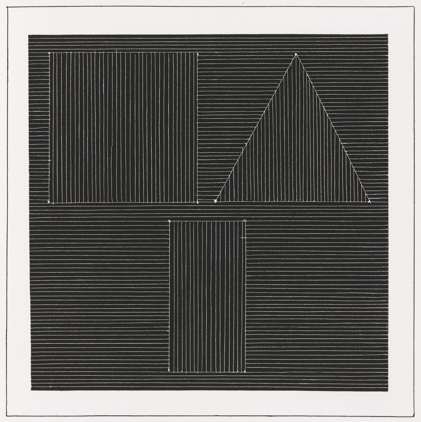 Sol LeWitt. Plate (folio 27) from Six Geometric Figures and All Their Combinations, Volume I. 1980