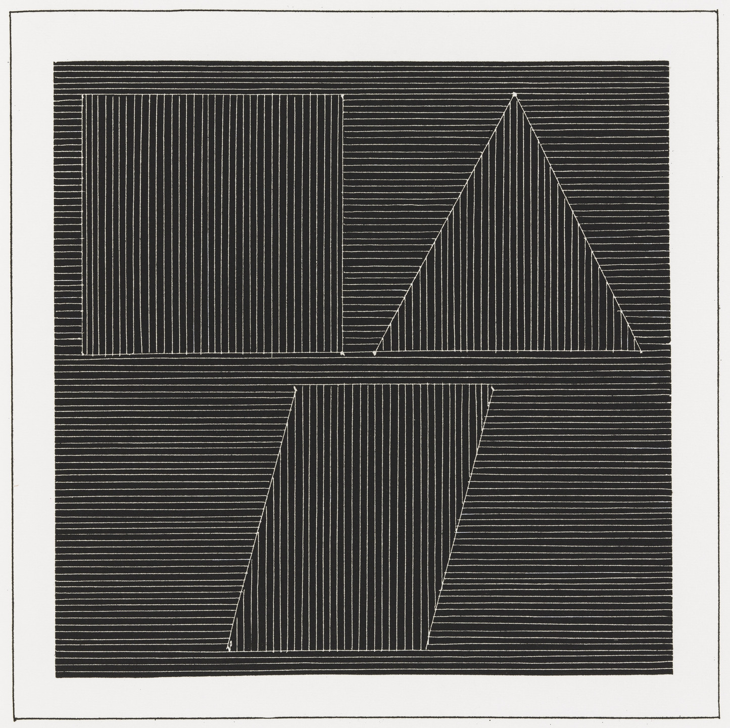 Sol LeWitt. Plate (folio 29) from Six Geometric Figures and All Their Combinations, Volume I. 1980