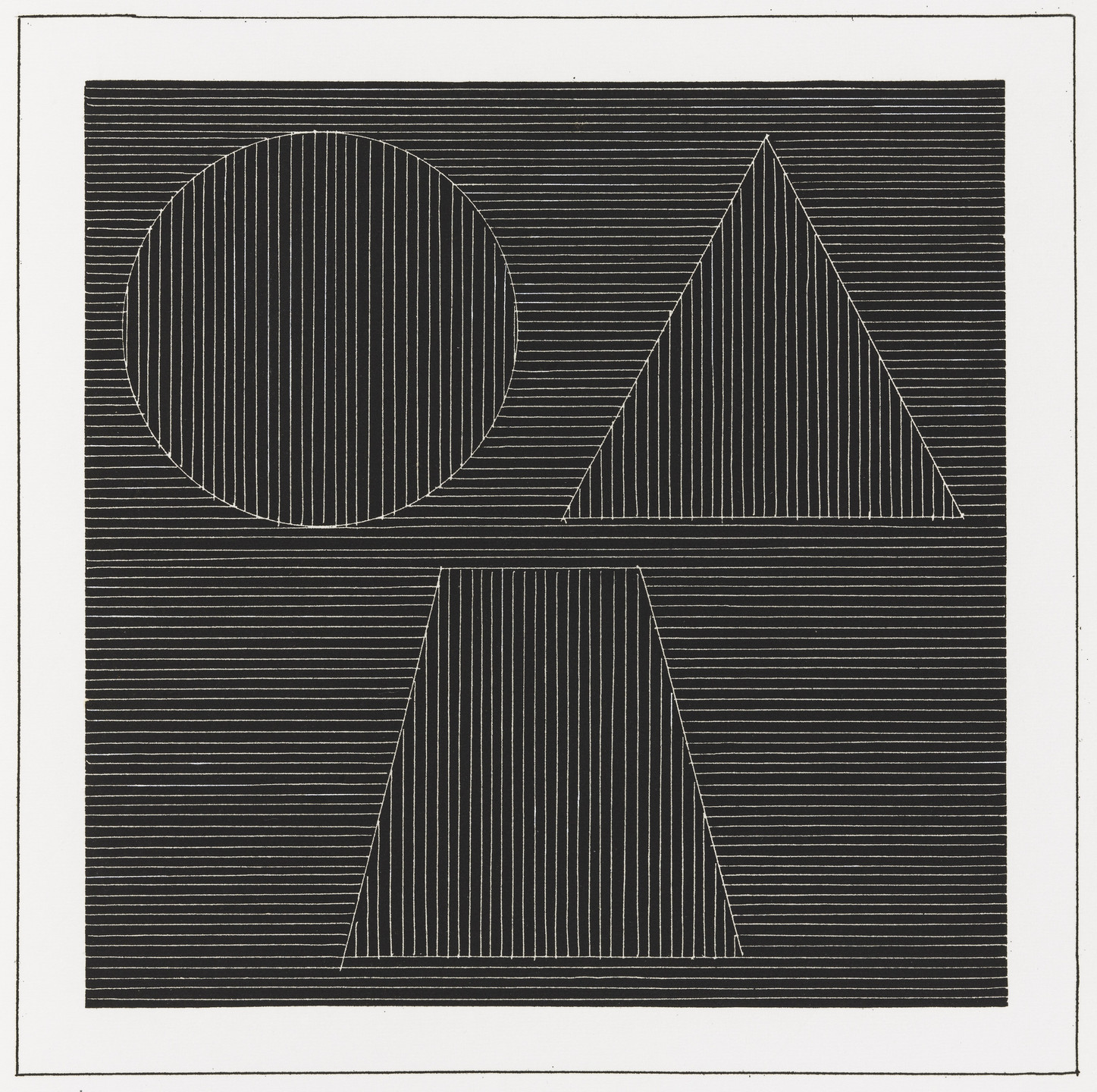 Sol LeWitt. Plate (folio 34) from Six Geometric Figures and All Their Combinations, Volume I. 1980